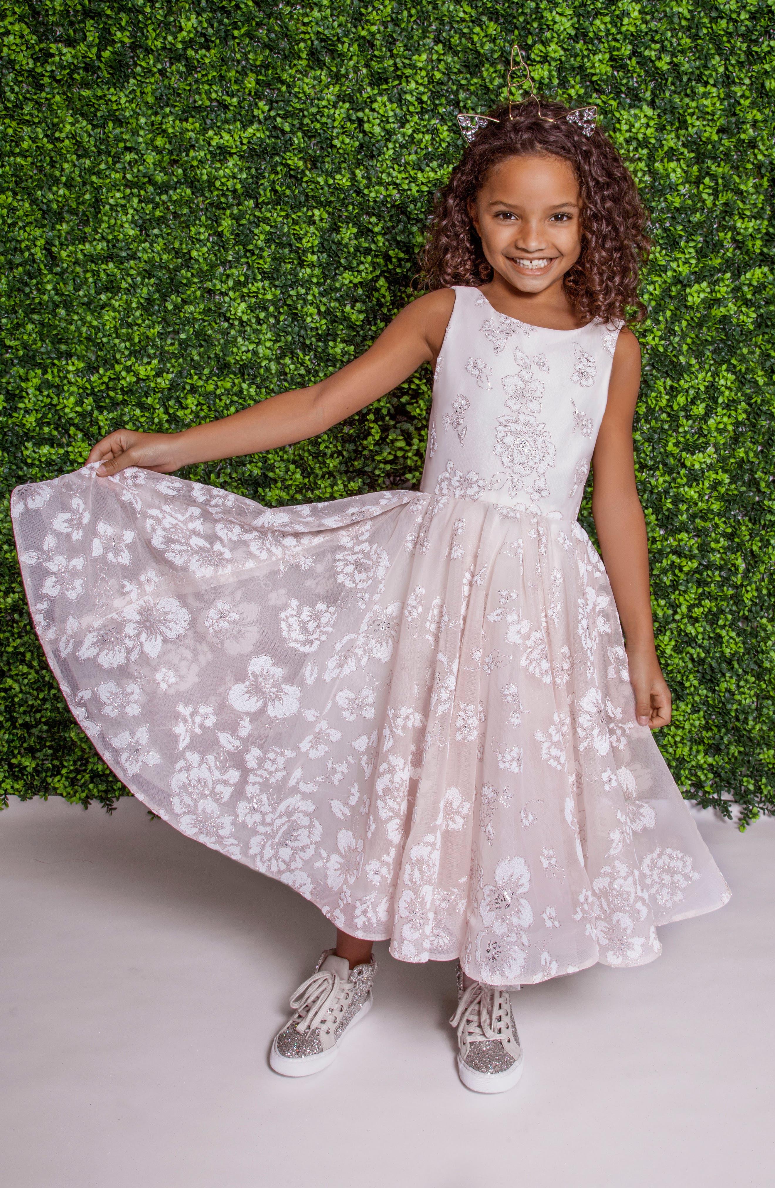 Eloise Beaded Flower Girl Dress,                         Main,                         color, SANDWASHED ORCHID
