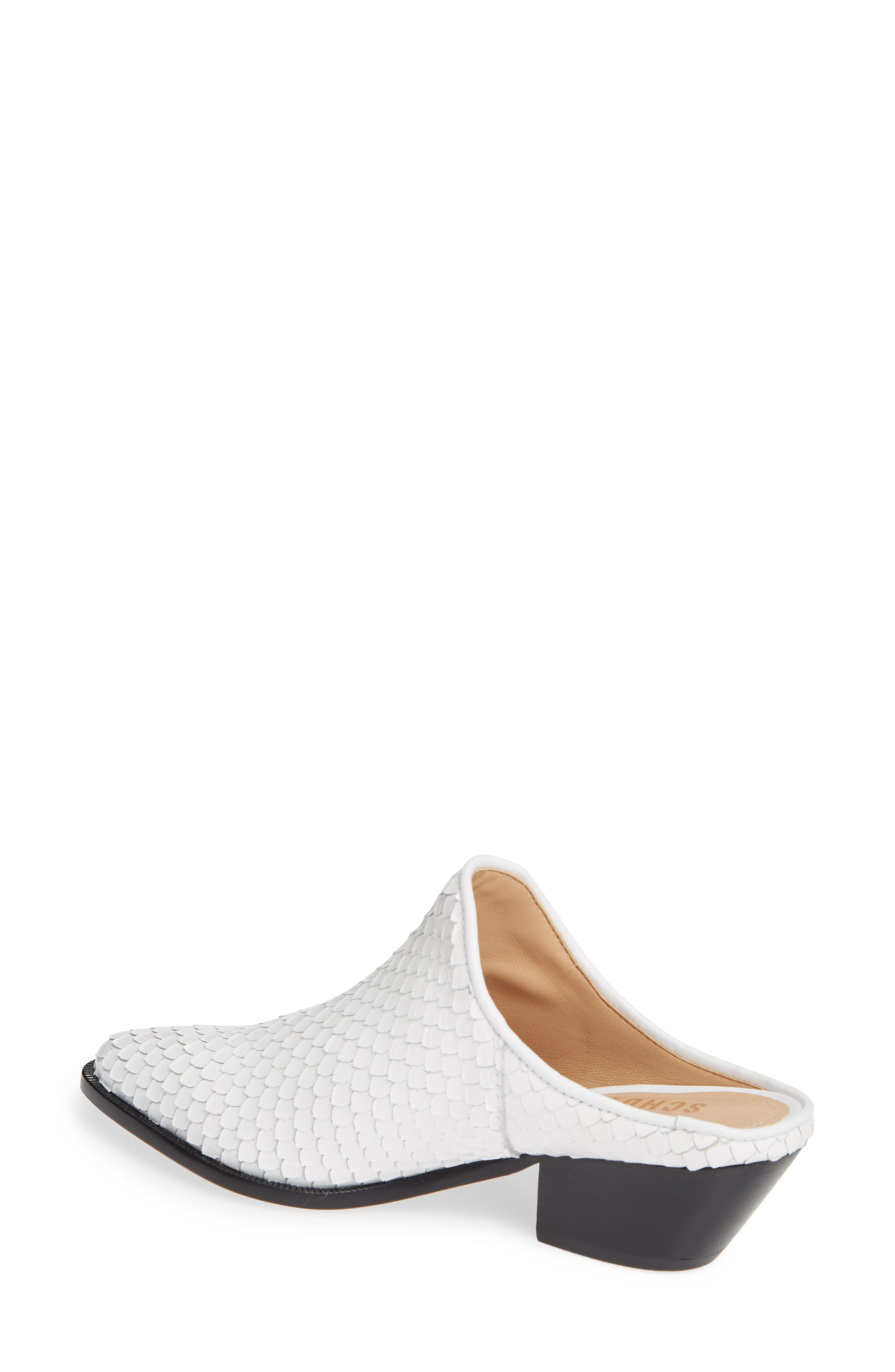 Leanny Mule,                             Alternate thumbnail 2, color,                             WHITE LEATHER