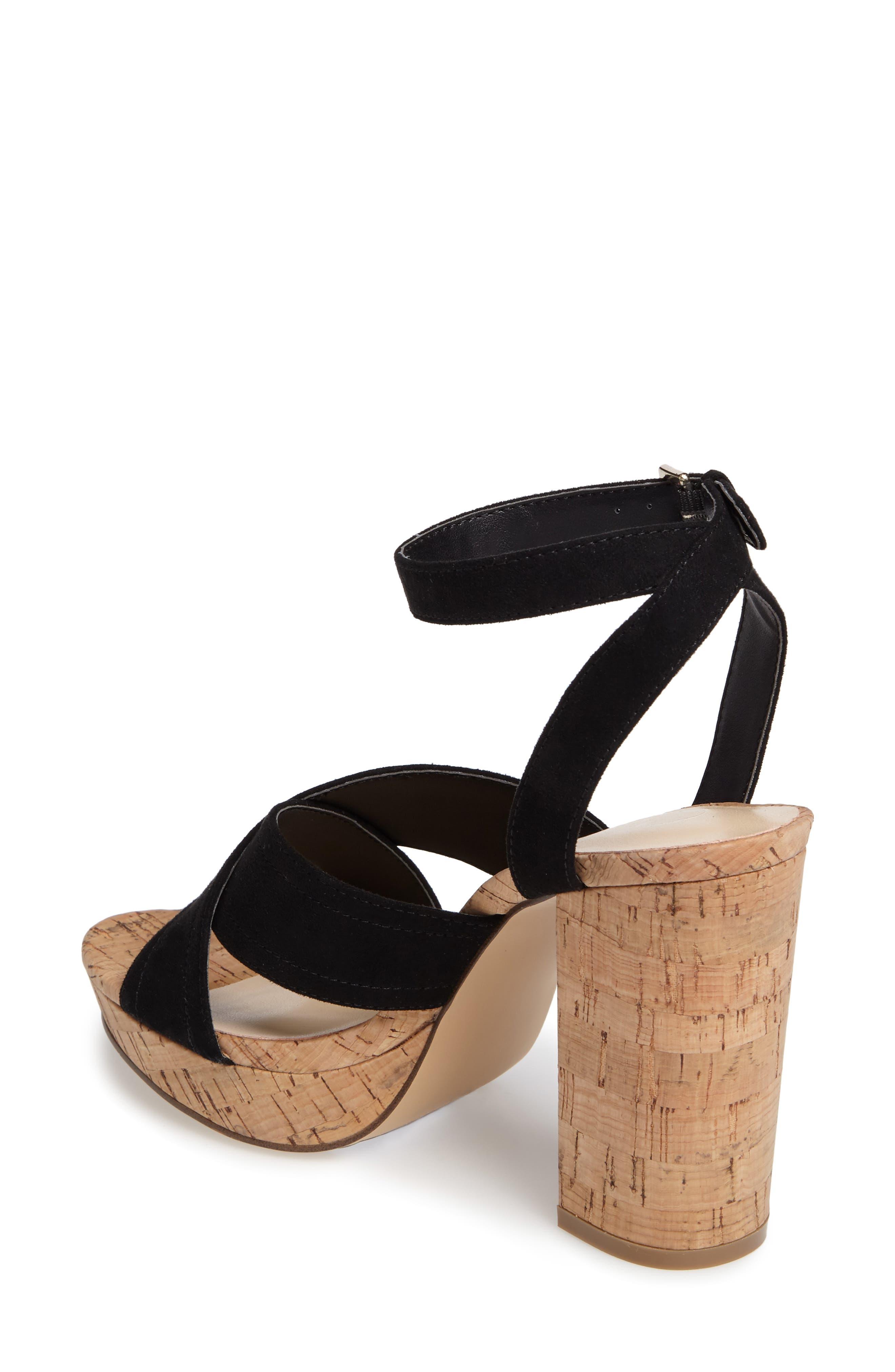 Windye Platform Ankle Strap Sandal,                             Alternate thumbnail 2, color,                             003