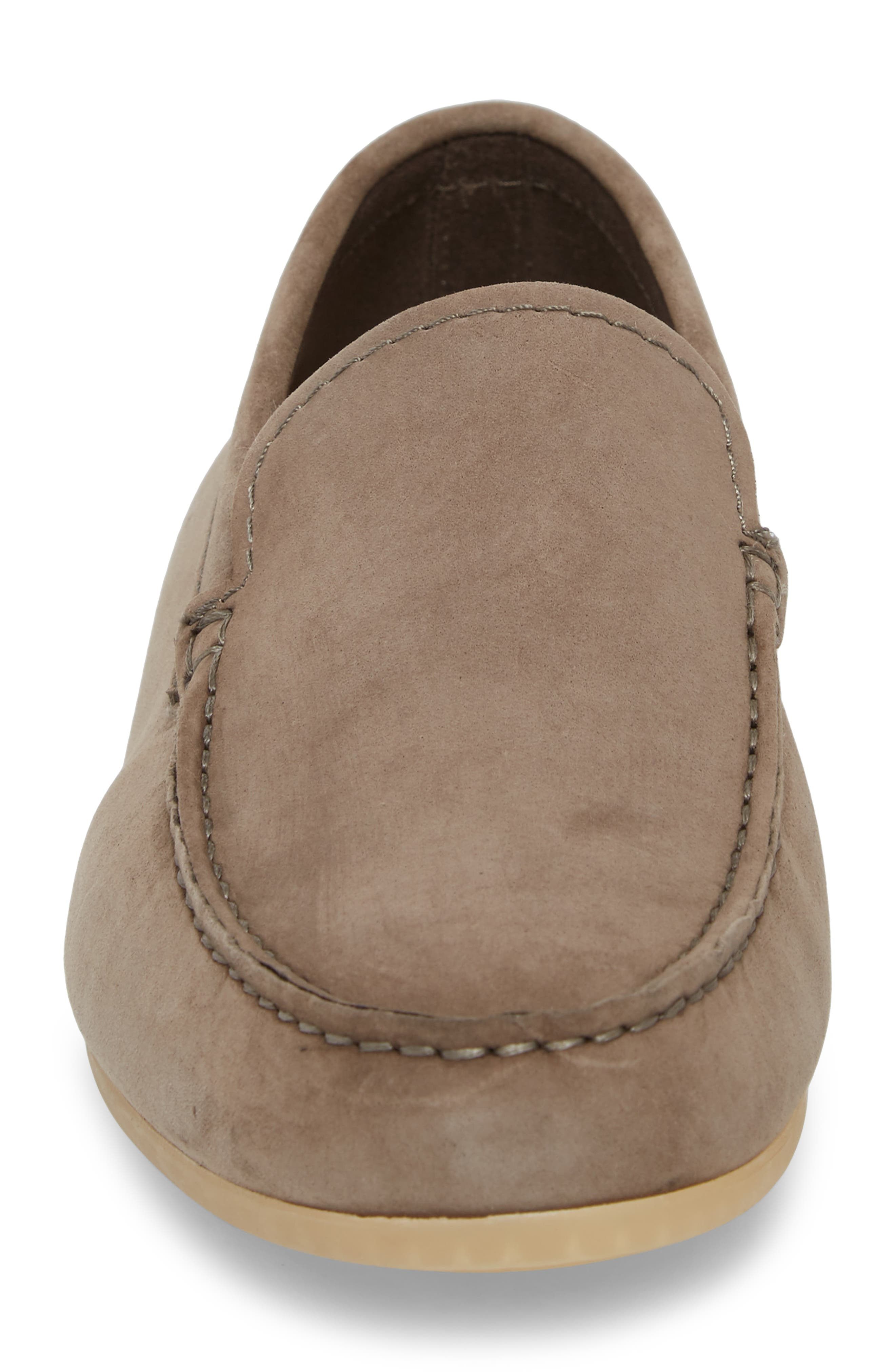 Clarks<sup>®</sup> Reazor Edge Driving Moccasin,                             Alternate thumbnail 4, color,                             SAGE NUBUCK