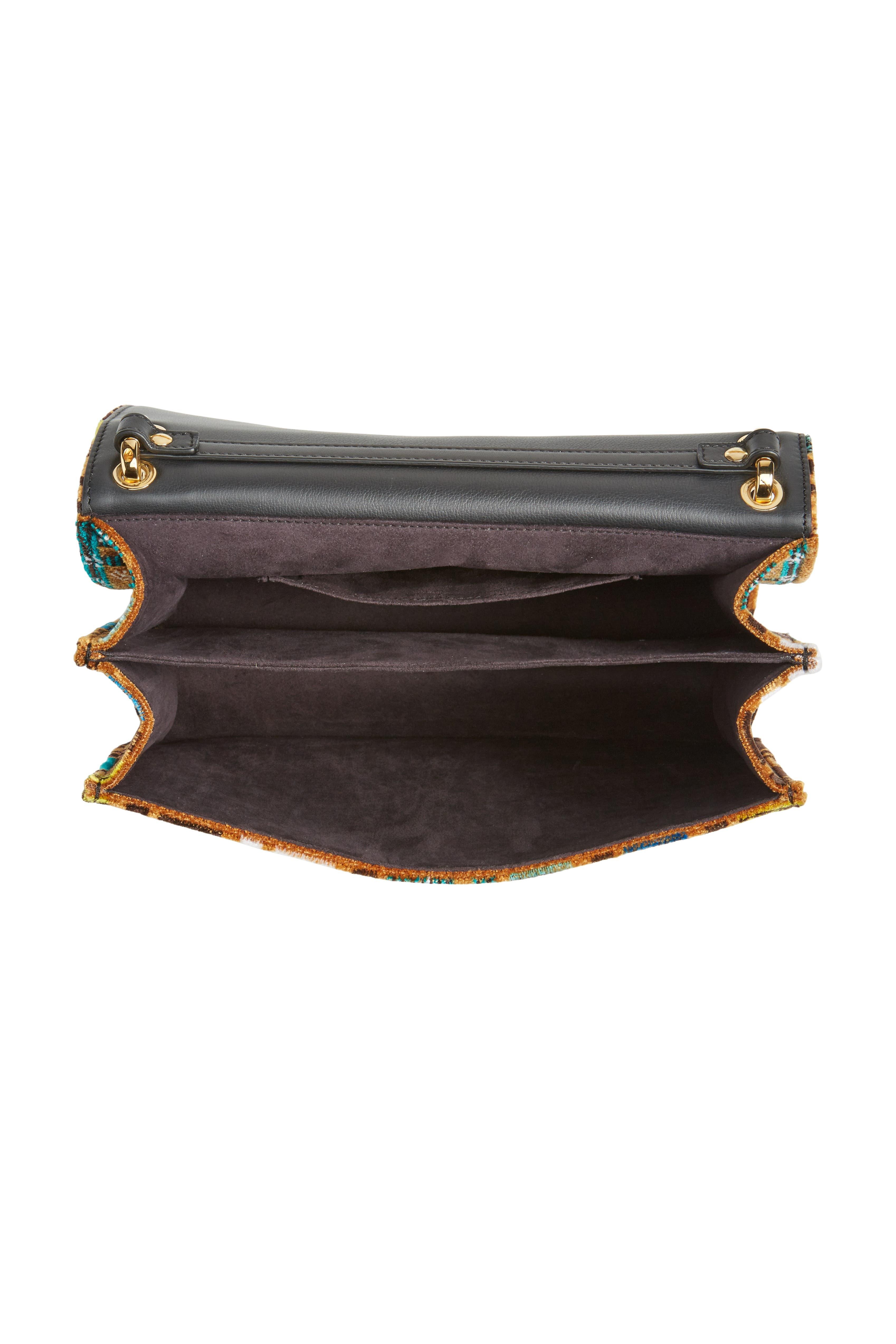 Kan I Tappetino Velvet Shoulder Bag,                             Alternate thumbnail 4, color,                             207