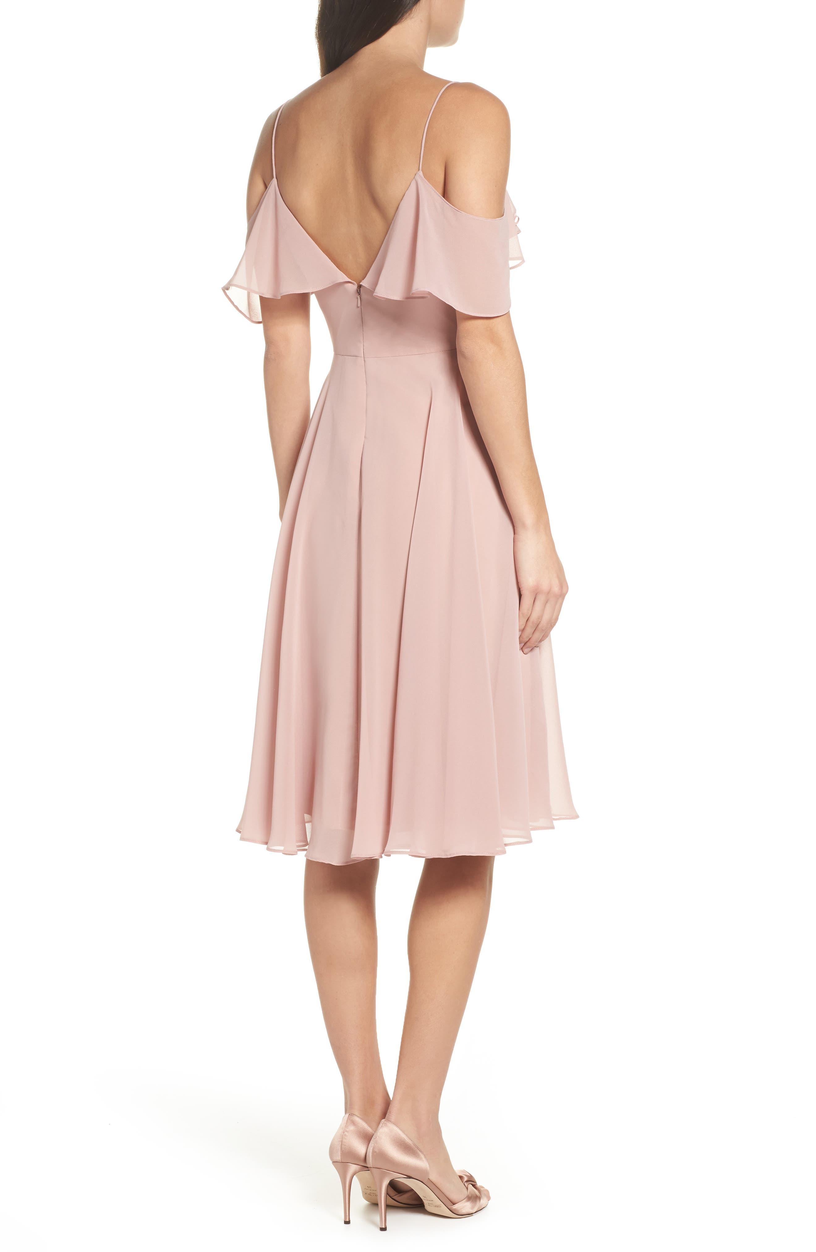 Kelli Cold Shoulder Chiffon Dress,                             Alternate thumbnail 2, color,                             664