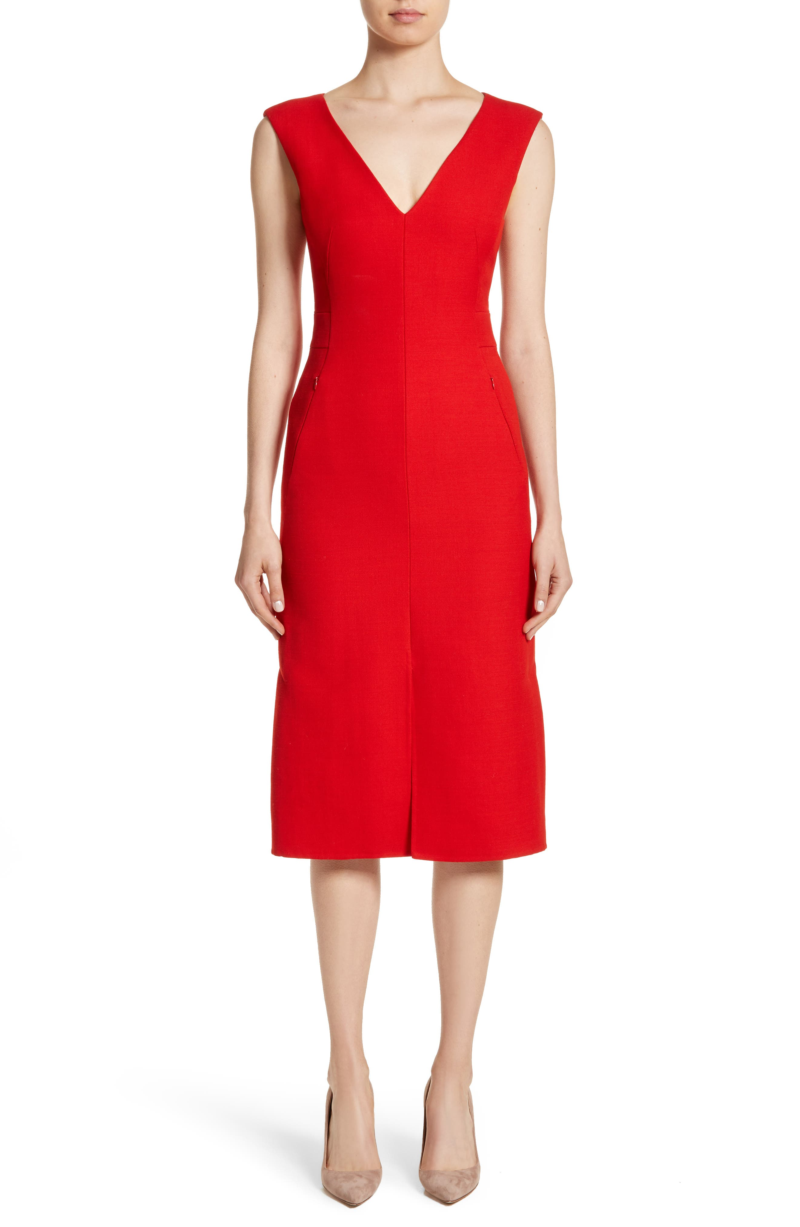 Double Face Wool & Silk Dress,                         Main,                         color, 600