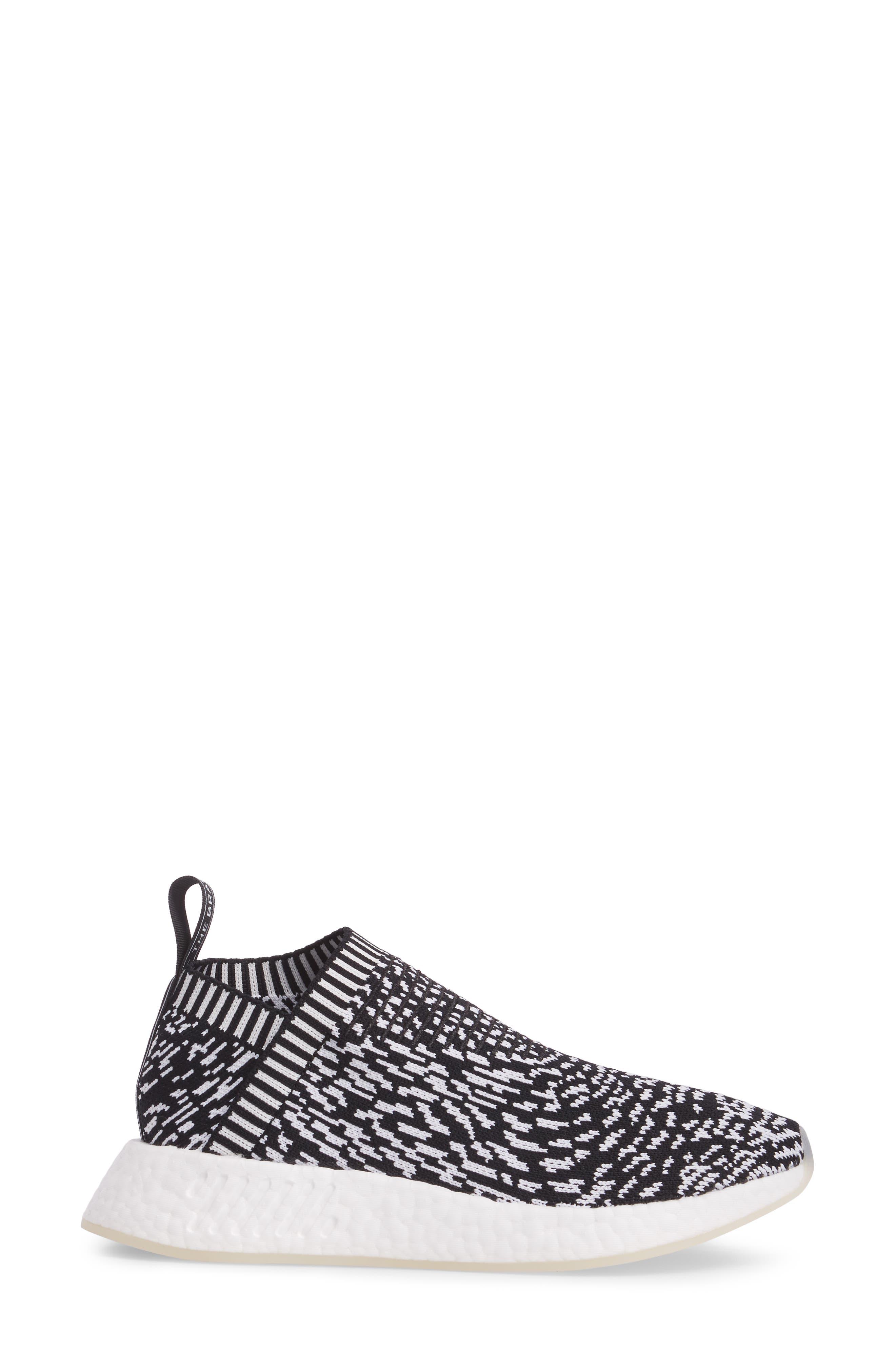 NMD_CS2 Primeknit Sneaker,                             Alternate thumbnail 3, color,                             001