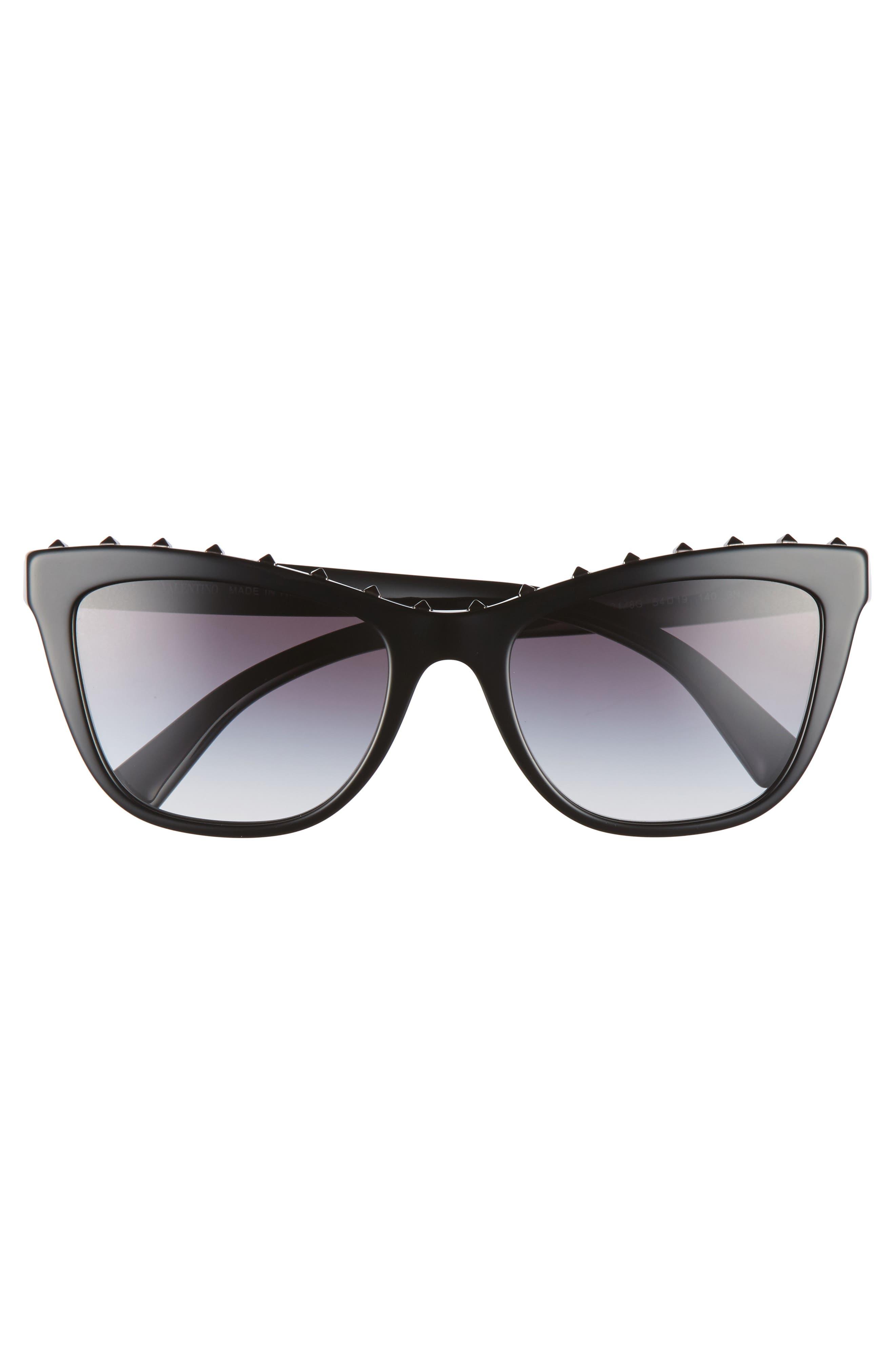 Rockstud 54mm Cat Eye Sunglasses,                             Alternate thumbnail 3, color,                             001