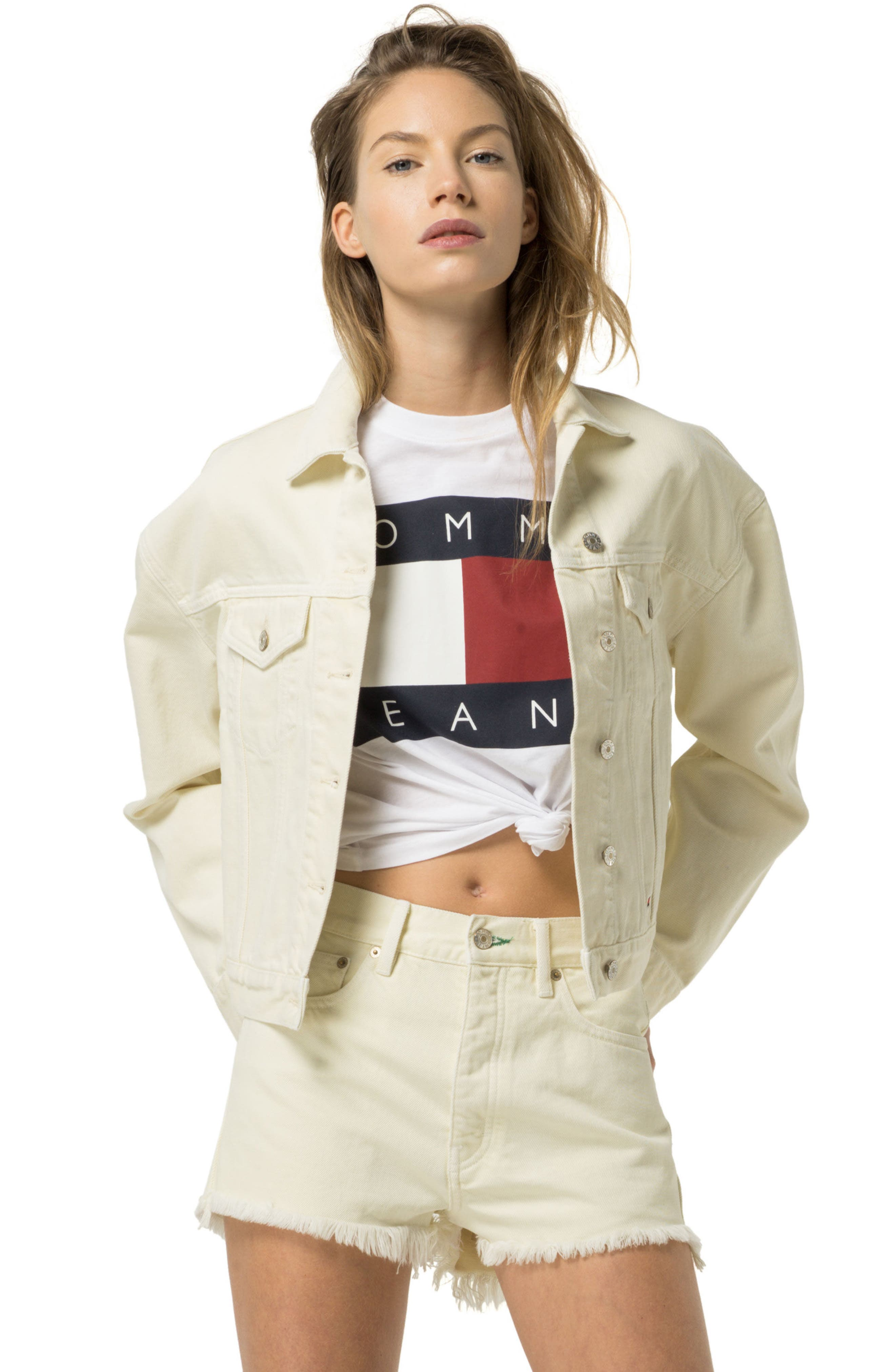 '90s Girlfriend Trucker Jacket,                             Alternate thumbnail 7, color,                             704