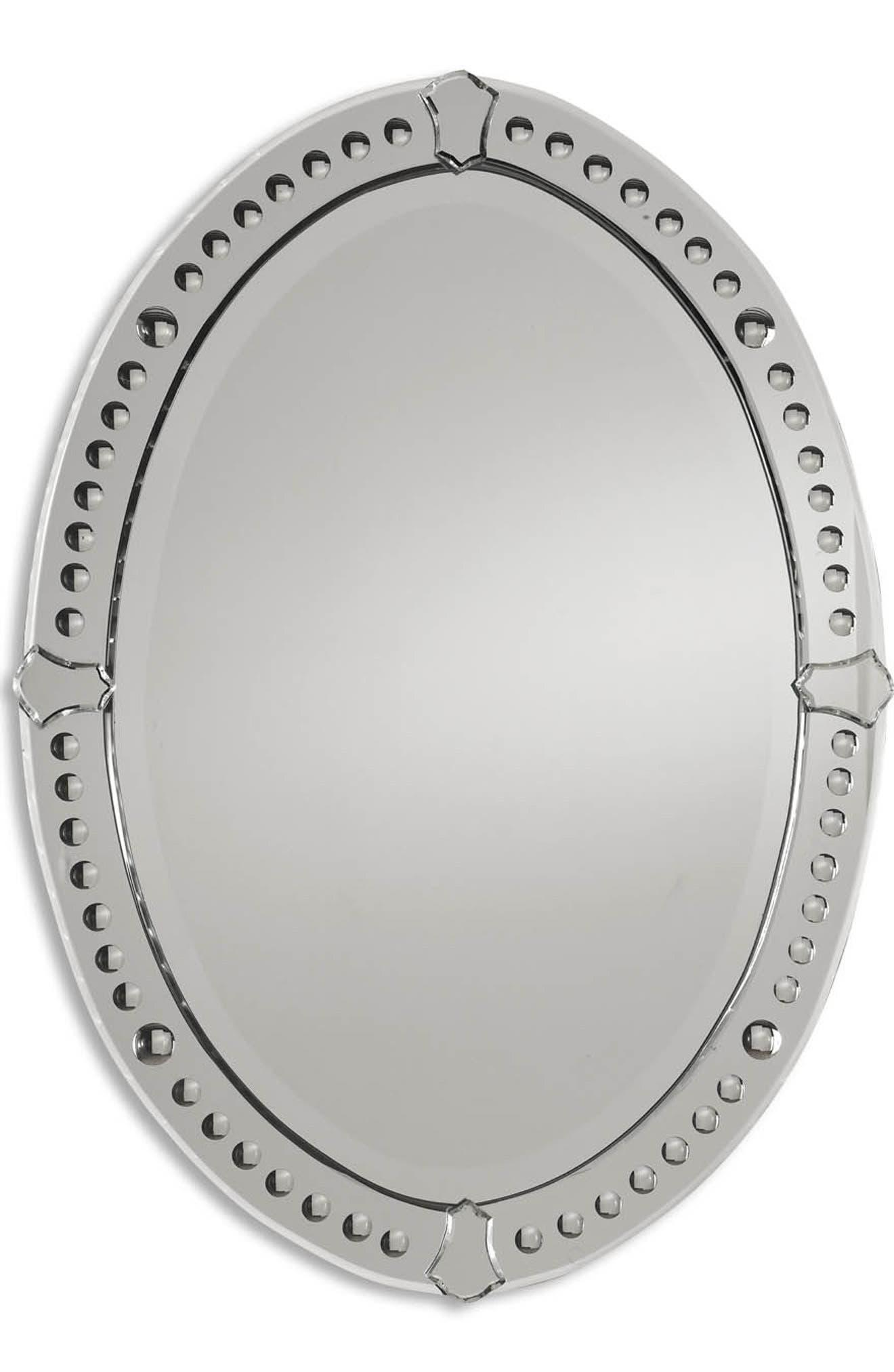 'Graziano' Frameless Oval Mirror,                             Alternate thumbnail 3, color,                             200