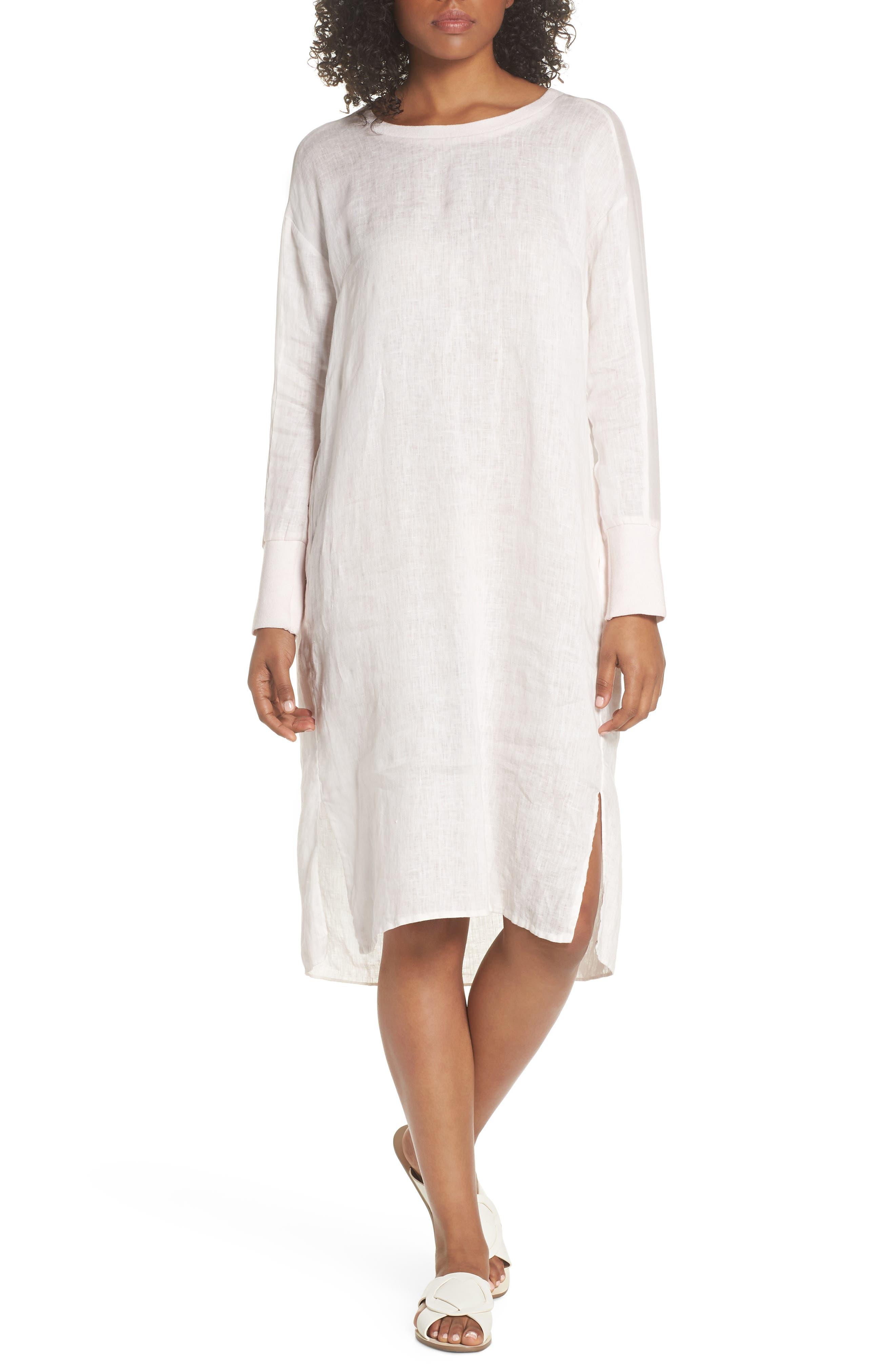 Rata Linen Shift Dress,                             Alternate thumbnail 6, color,                             680
