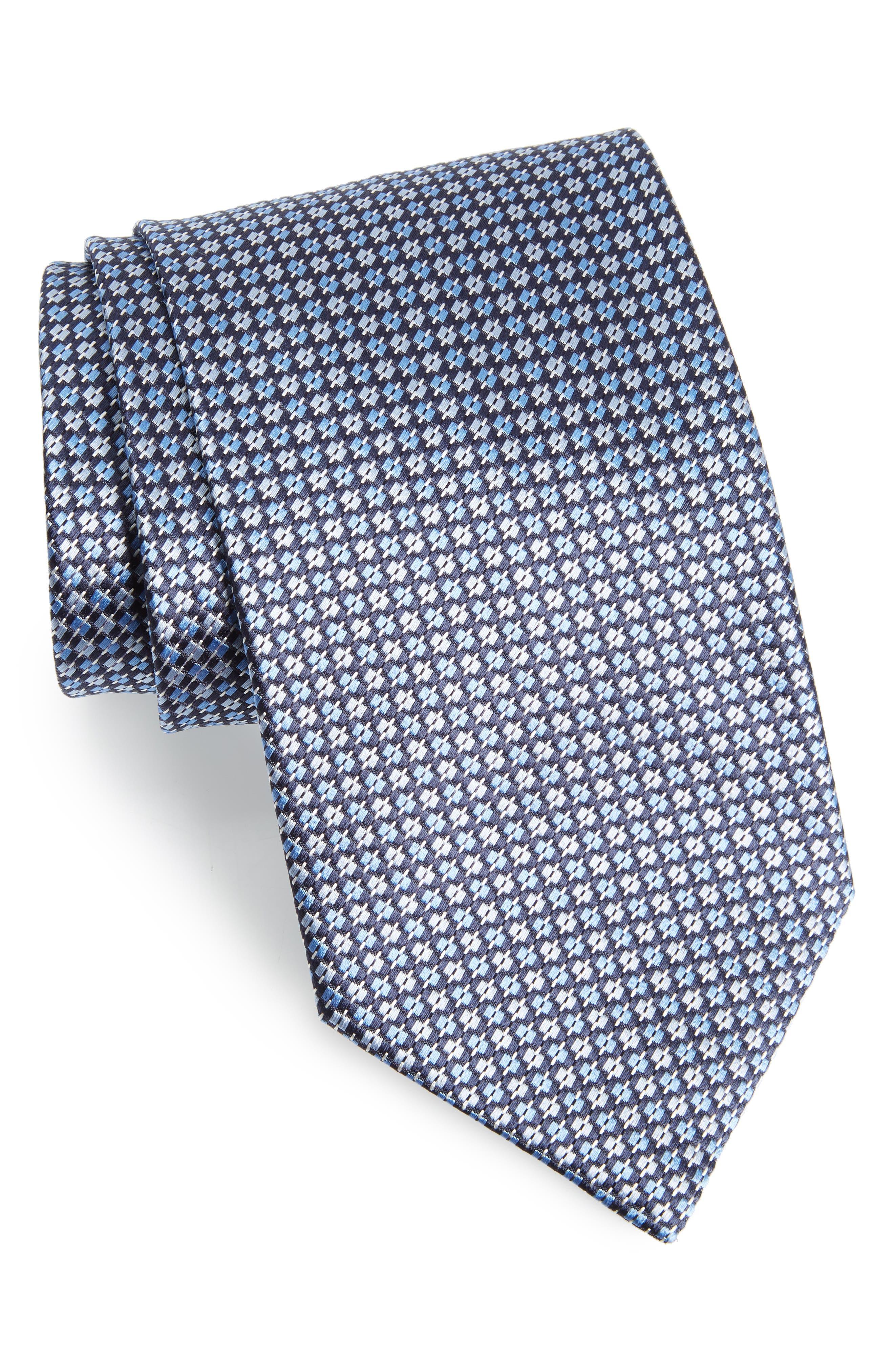 Geometric Silk Tie,                         Main,                         color, 439