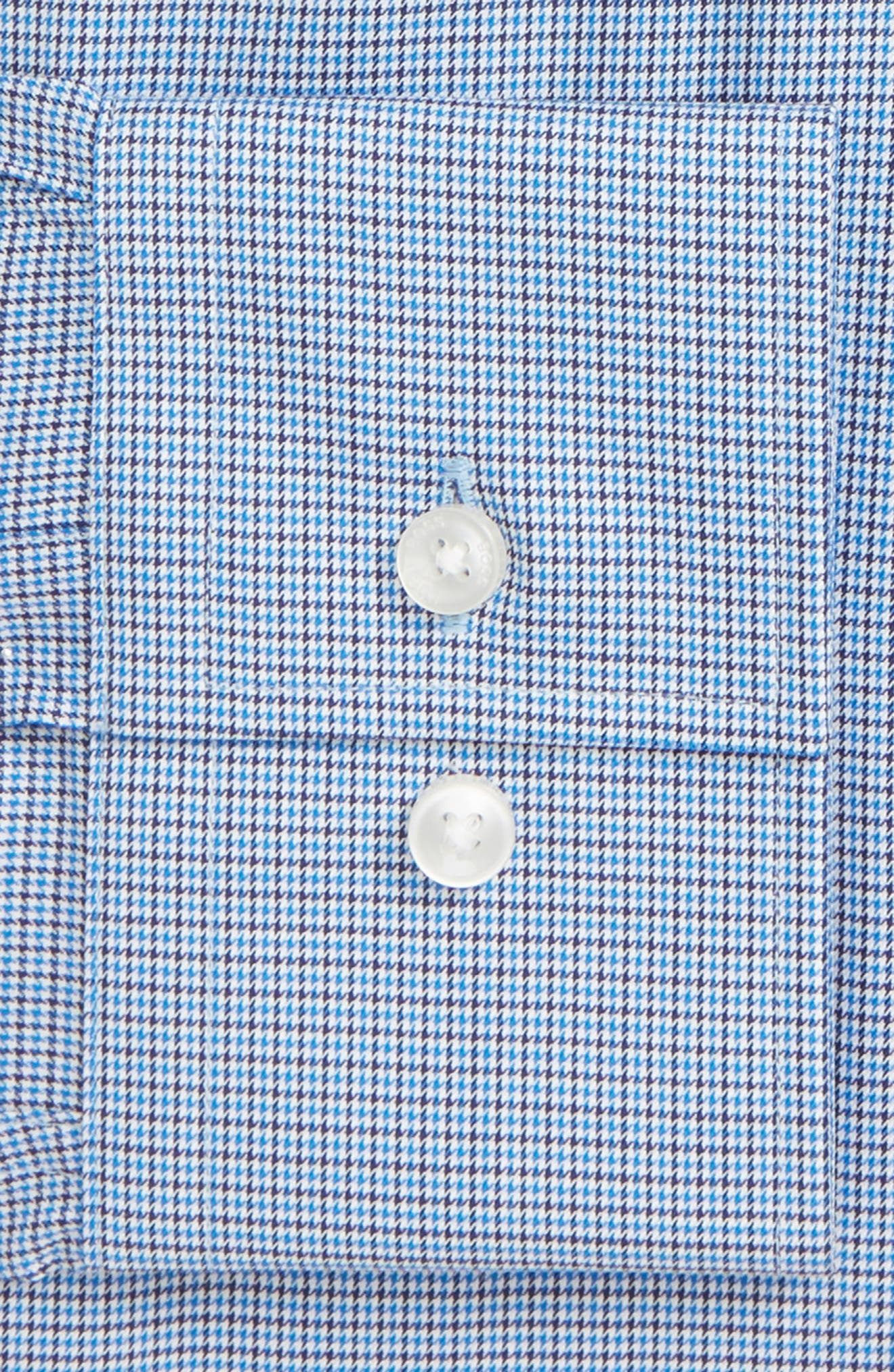 Jason Slim Fit Houndstooth Dress Shirt,                             Alternate thumbnail 2, color,                             BLUE