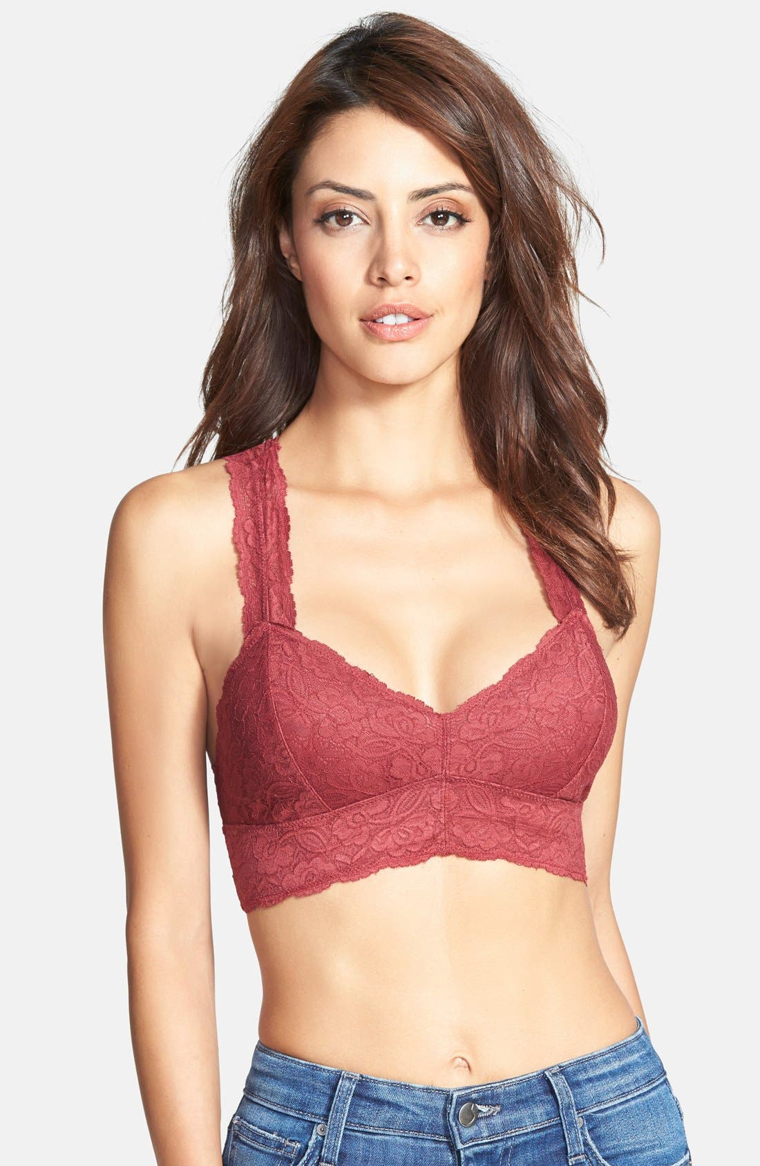 Racerback Galloon Lace Bralette,                             Main thumbnail 34, color,