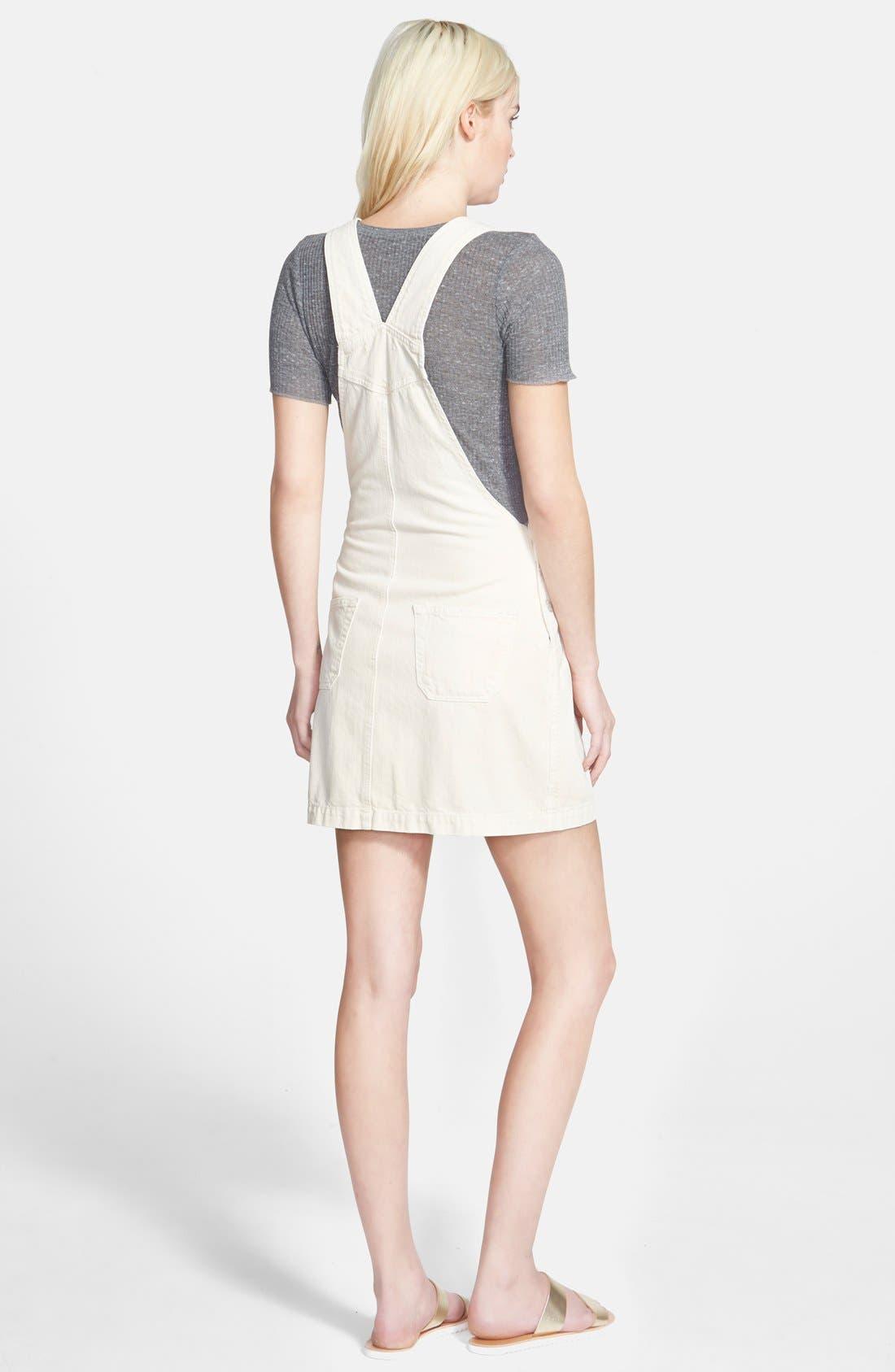 Alexa Chung for AG 'The Gillian' Overalls Dress,                             Alternate thumbnail 2, color,                             100
