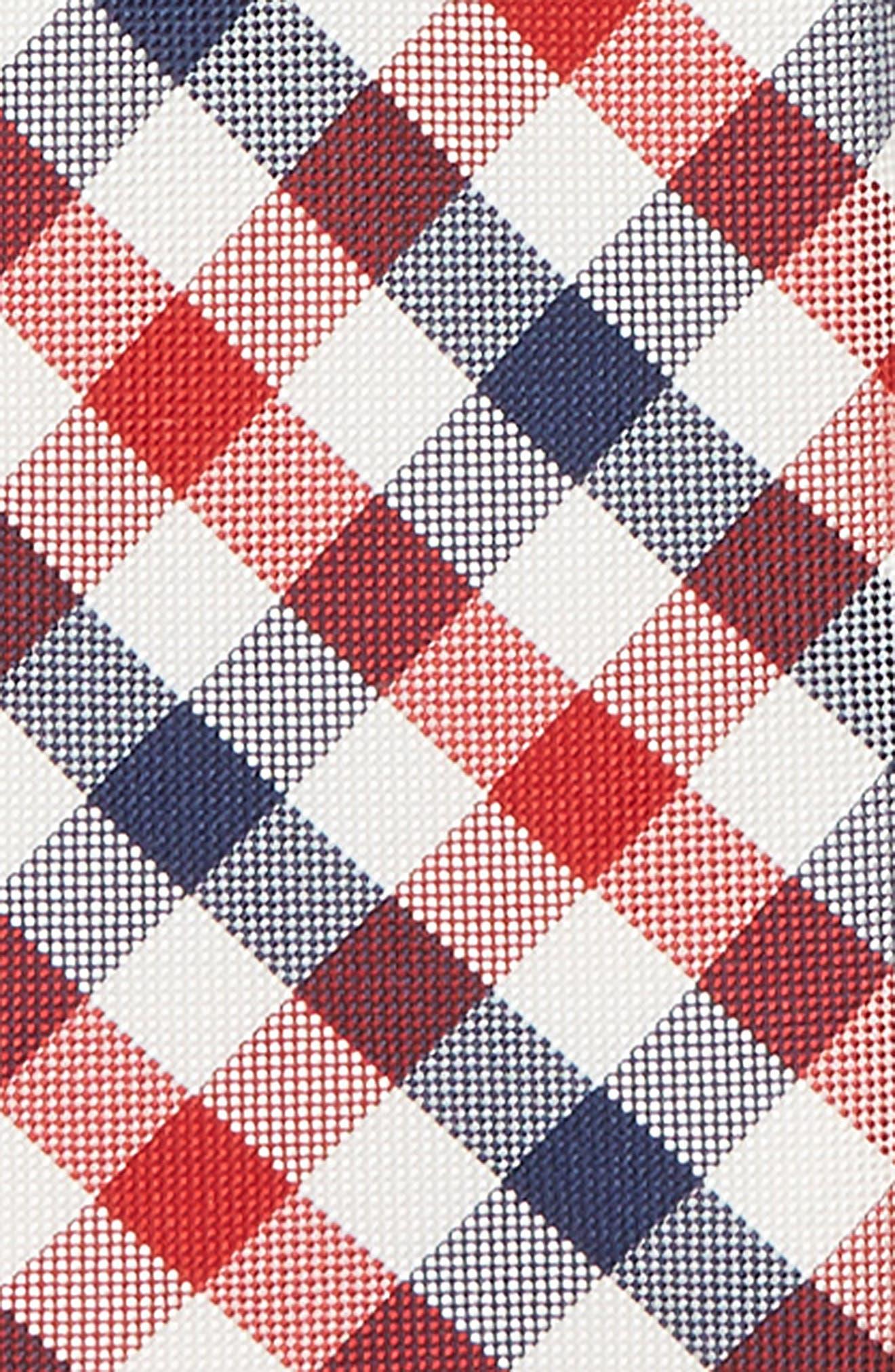 Natte Weave Silk Zip Tie,                             Alternate thumbnail 2, color,                             NAVY