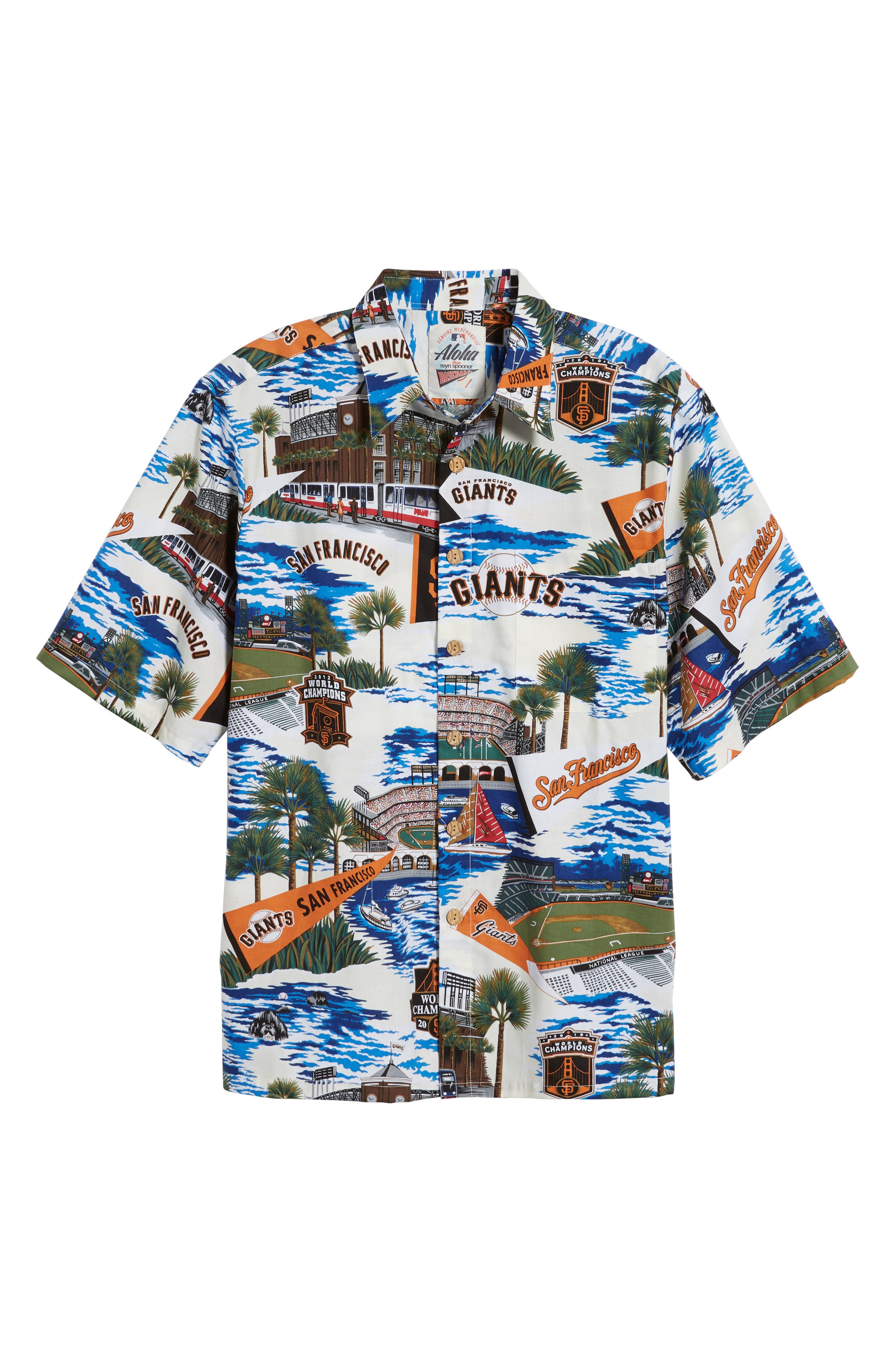 San Francisco Giants Classic Fit Camp Shirt,                             Alternate thumbnail 6, color,