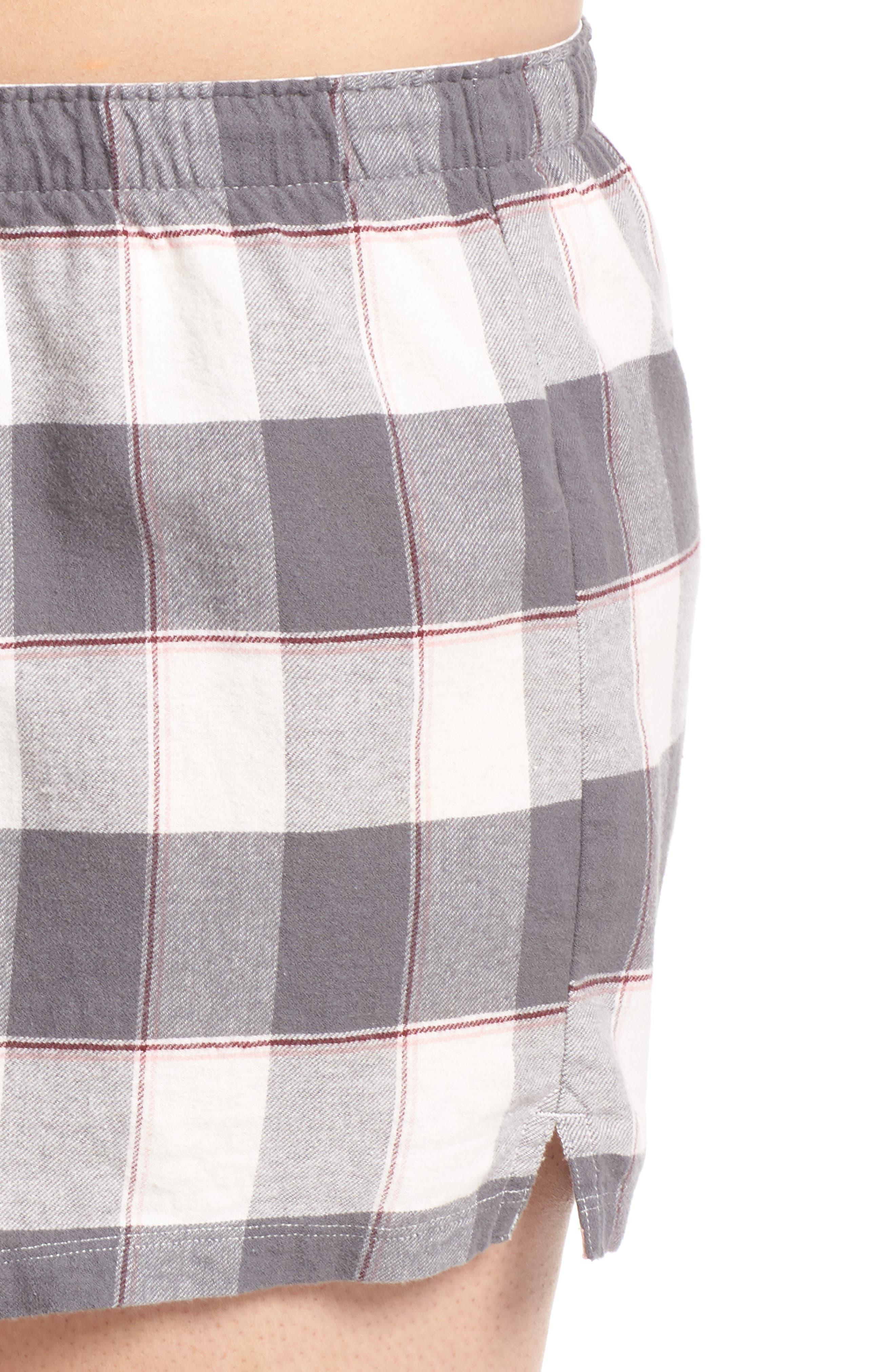 Cozy Time Shorts,                             Alternate thumbnail 4, color,                             GREY