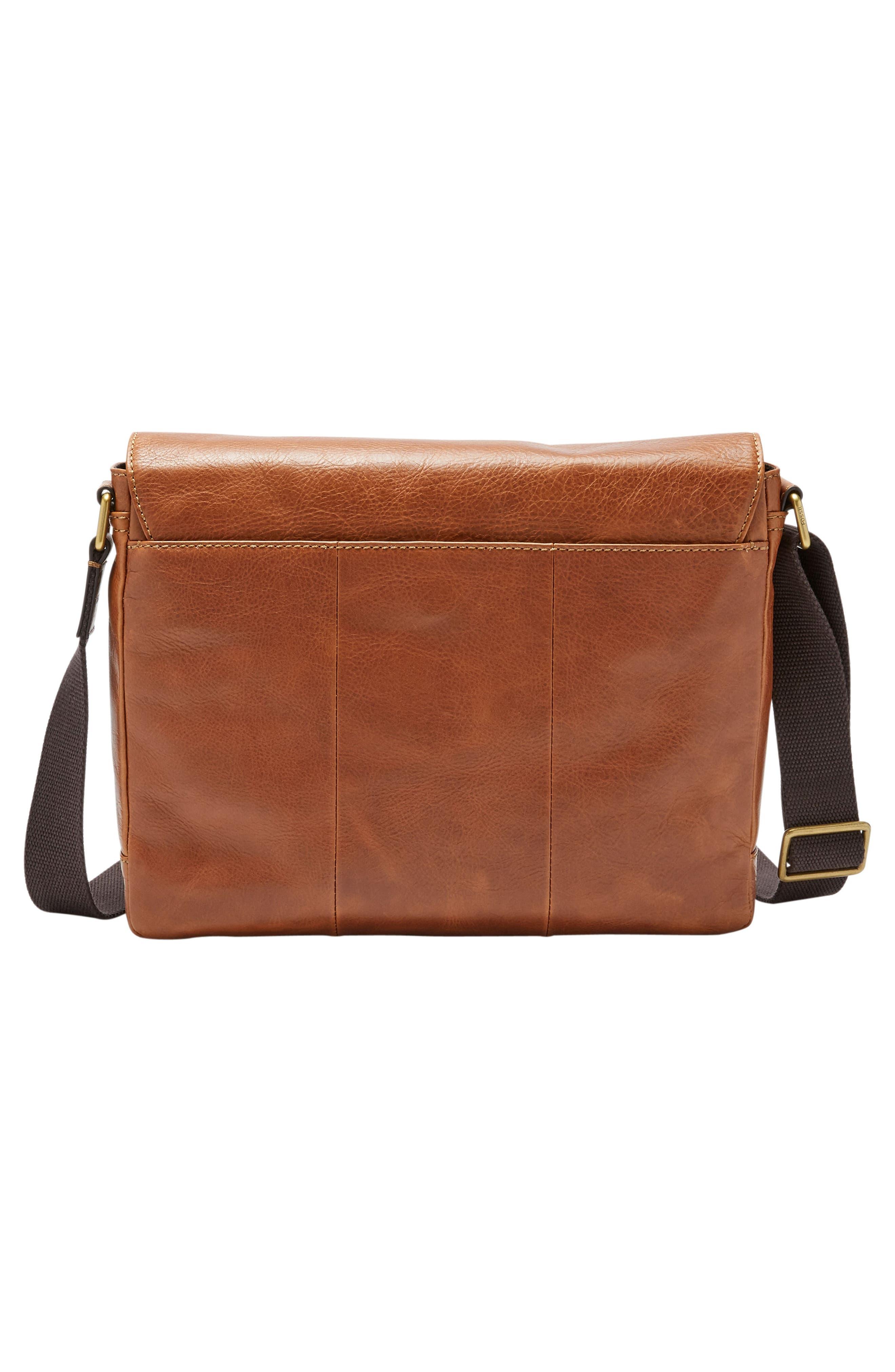 Defender Leather Messenger Bag,                             Alternate thumbnail 2, color,                             202