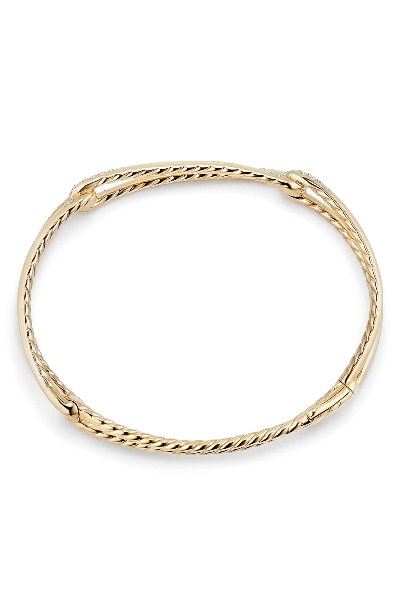 Continuance Bracelet with Diamond in 18K Gold,                             Alternate thumbnail 3, color,                             YELLOW GOLD