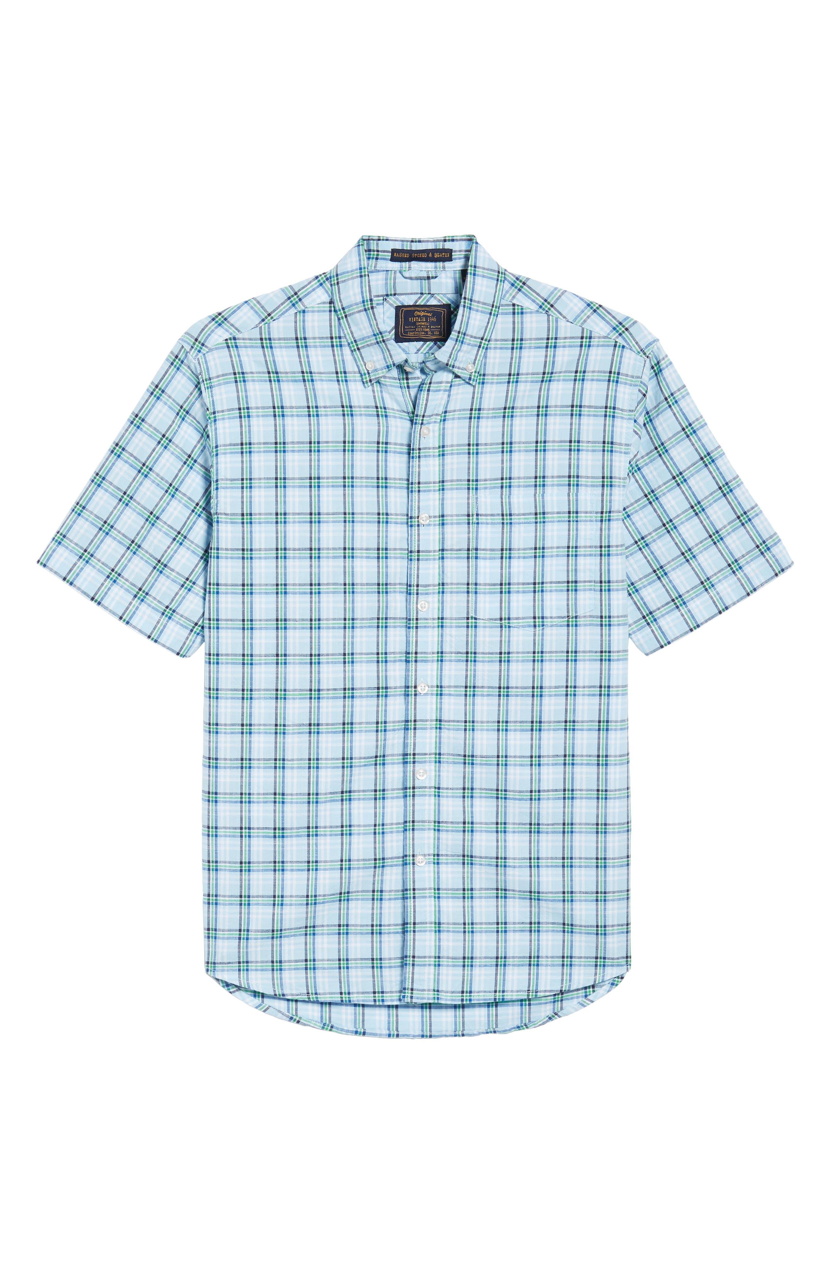Plaid Oxford Sport Shirt,                             Alternate thumbnail 6, color,                             400