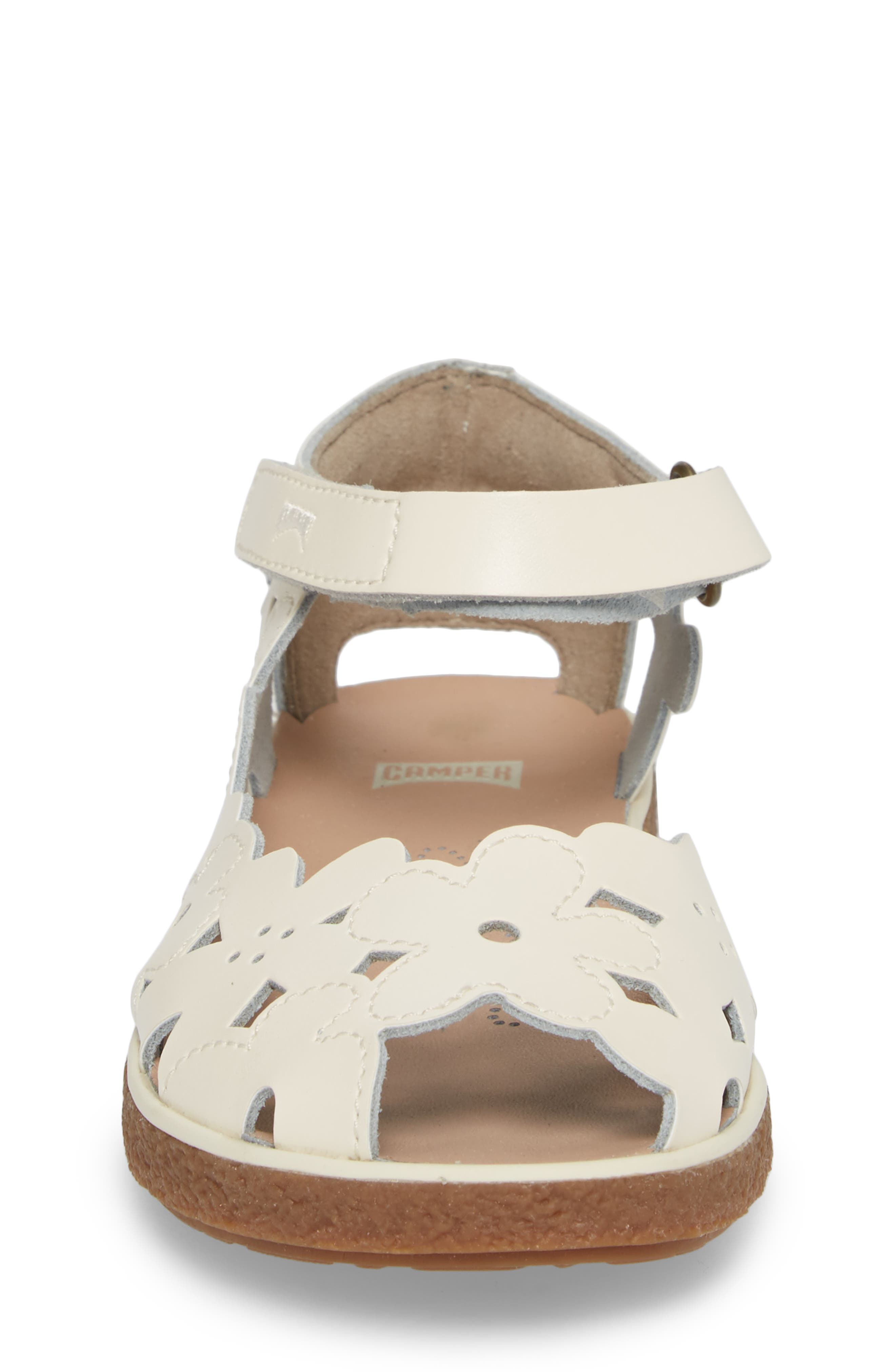 Twins Perforated Sandal,                             Alternate thumbnail 4, color,                             WHITE