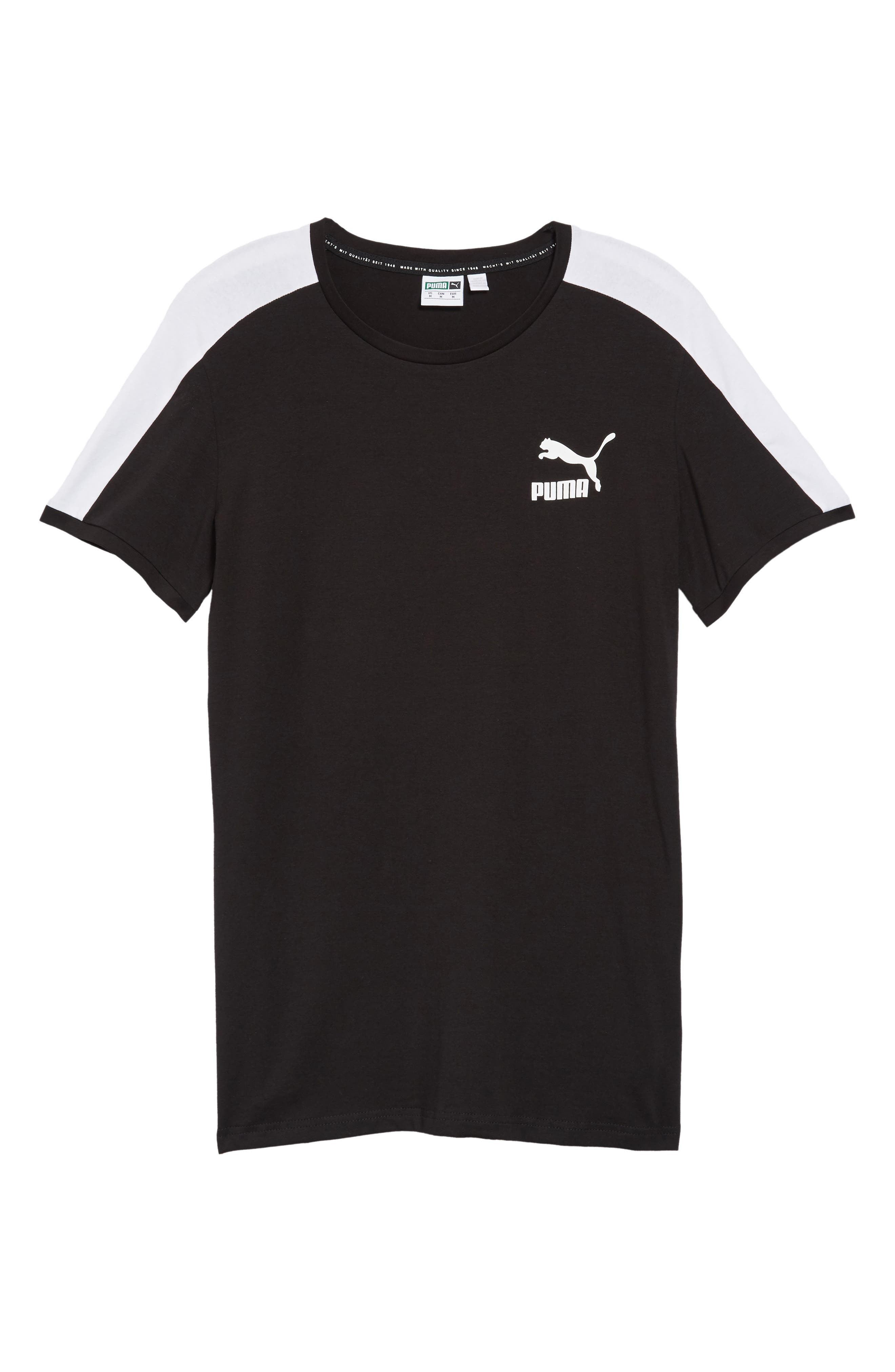 Slim fit Classics T7 T-Shirt,                             Alternate thumbnail 6, color,                             BLACK