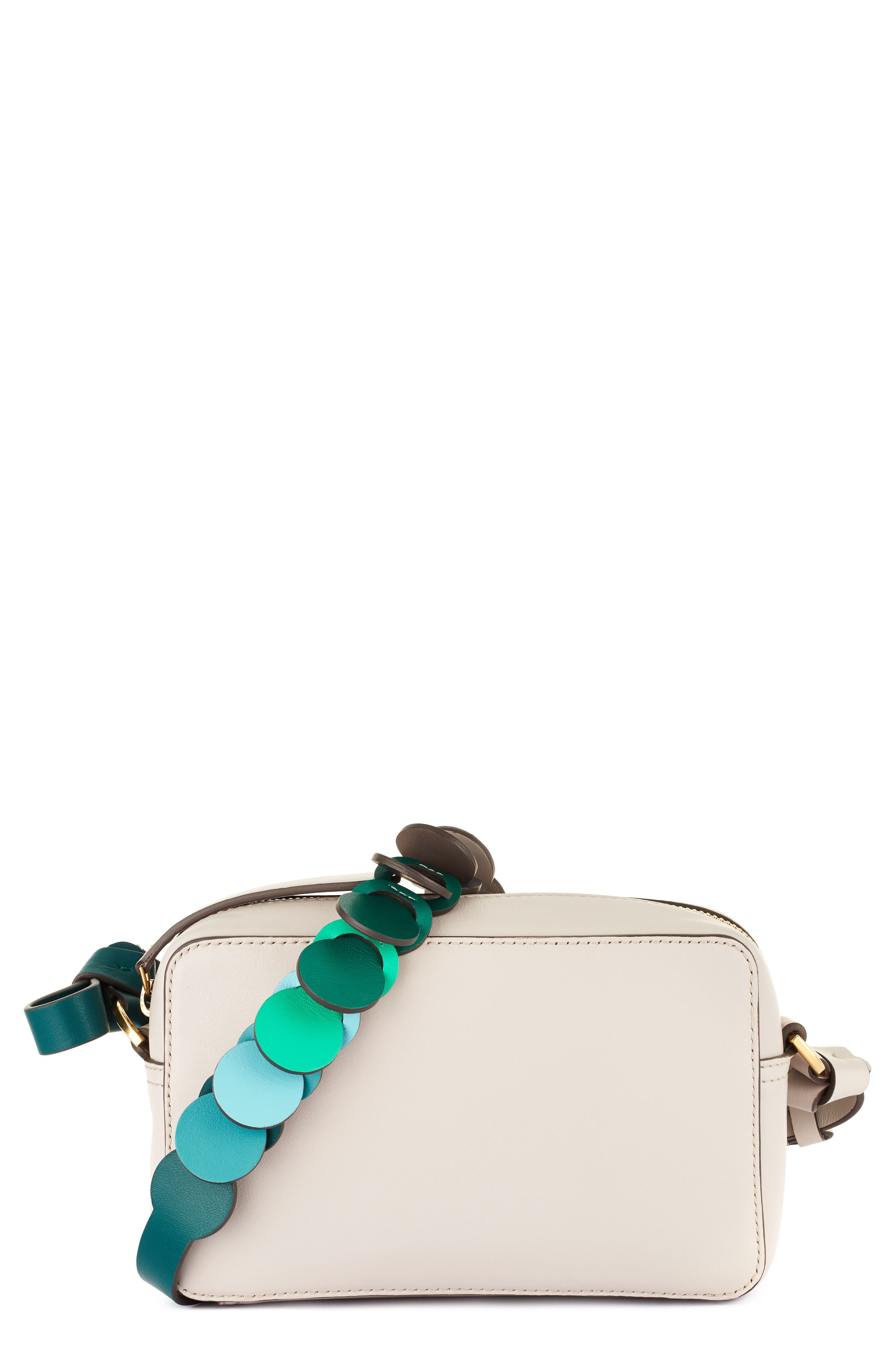 Camera Leather Crossbody With Link Strap,                         Main,                         color, 050