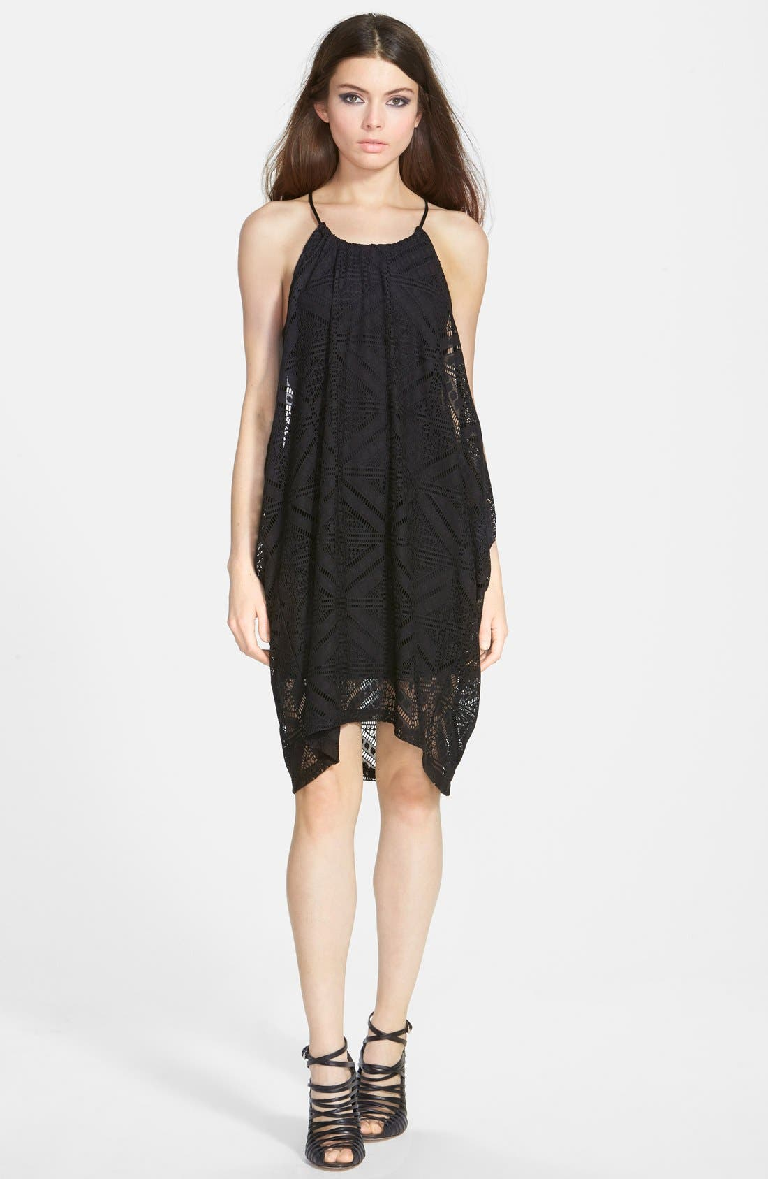 ASTR Sleeveless Crochet Dress,                             Main thumbnail 1, color,