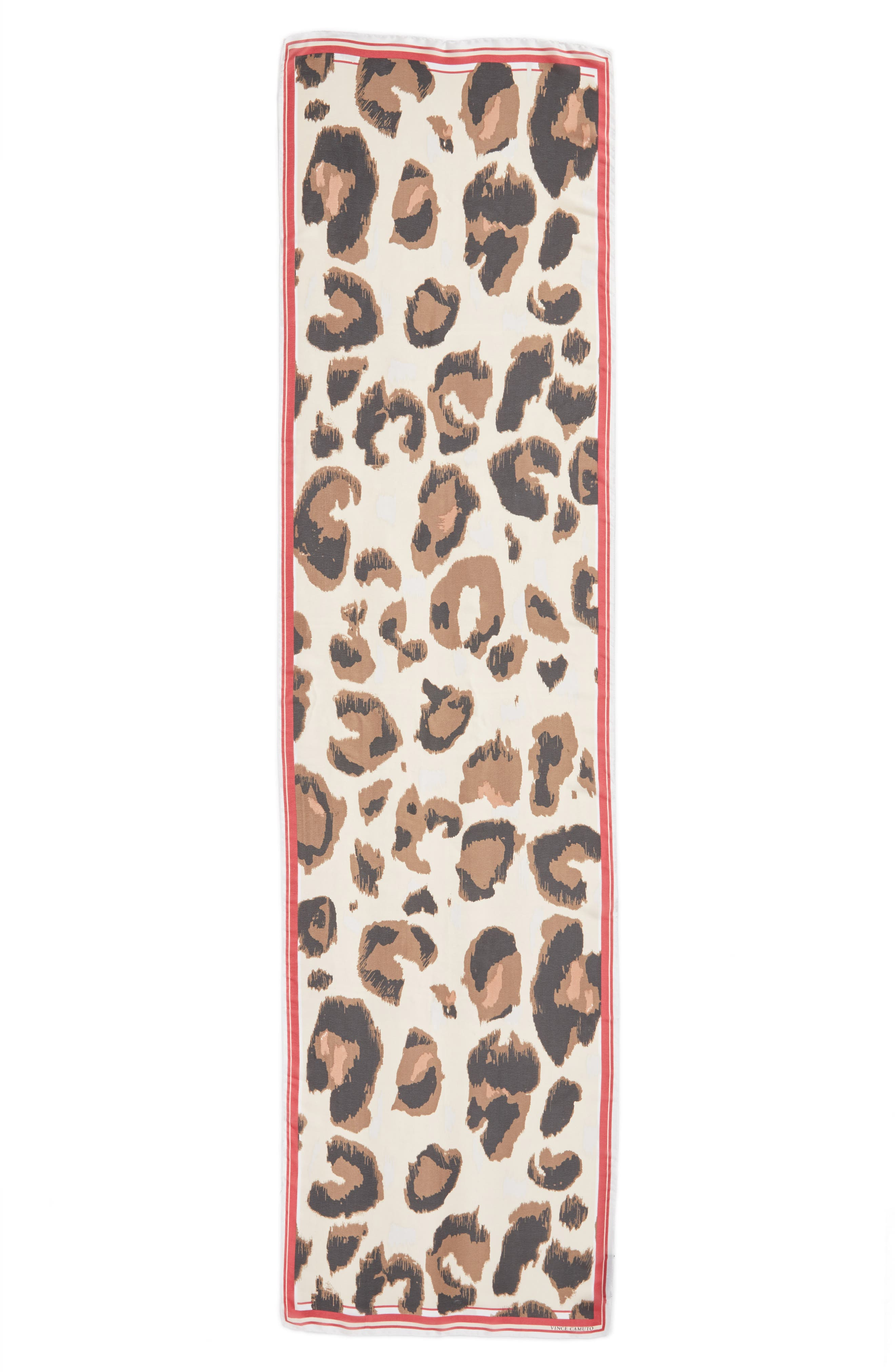 Leopard Print Scarf,                             Alternate thumbnail 3, color,                             603