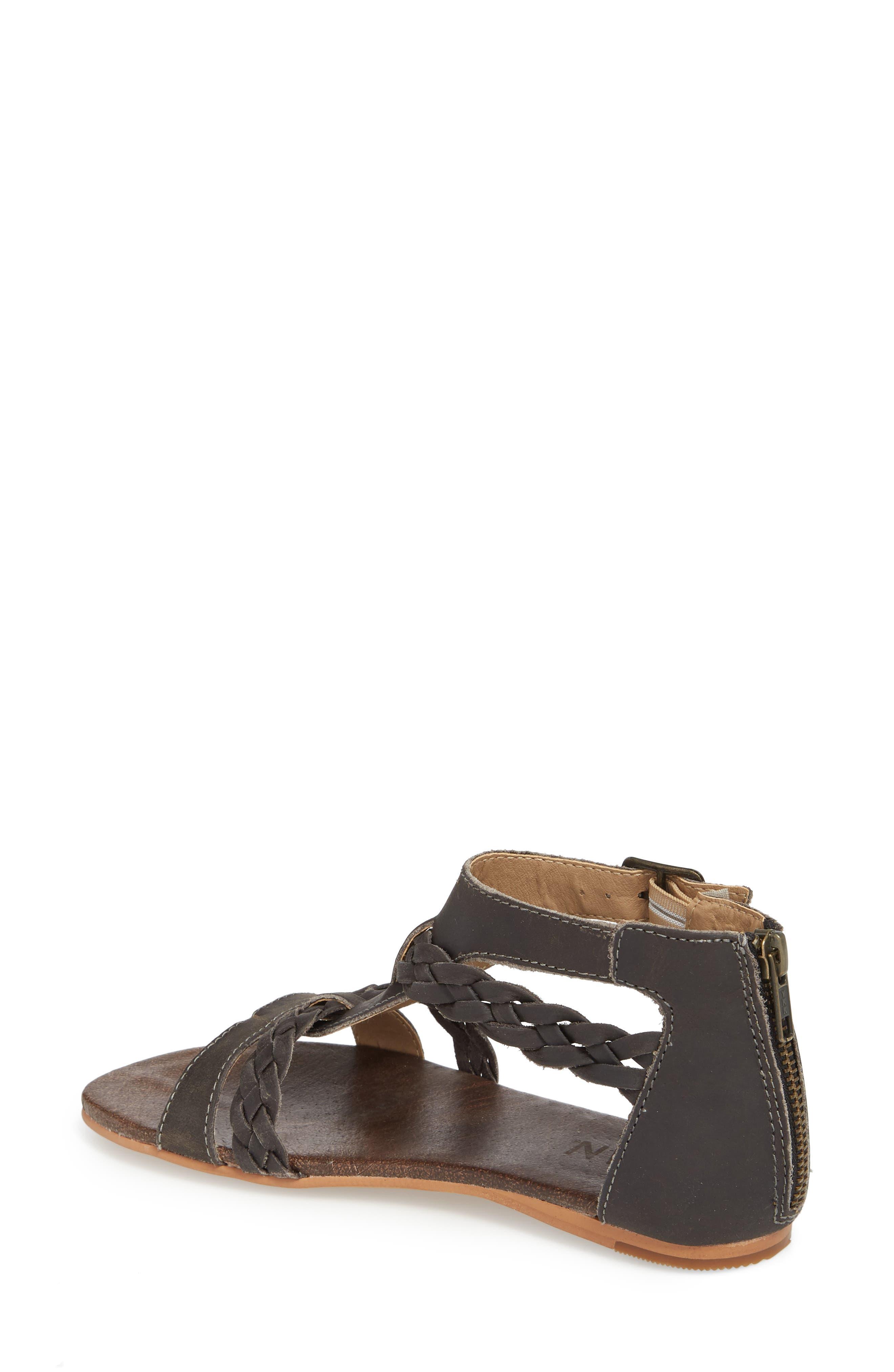 Posey Braided V-Strap Sandal,                             Alternate thumbnail 2, color,                             SYDNEY BLACK