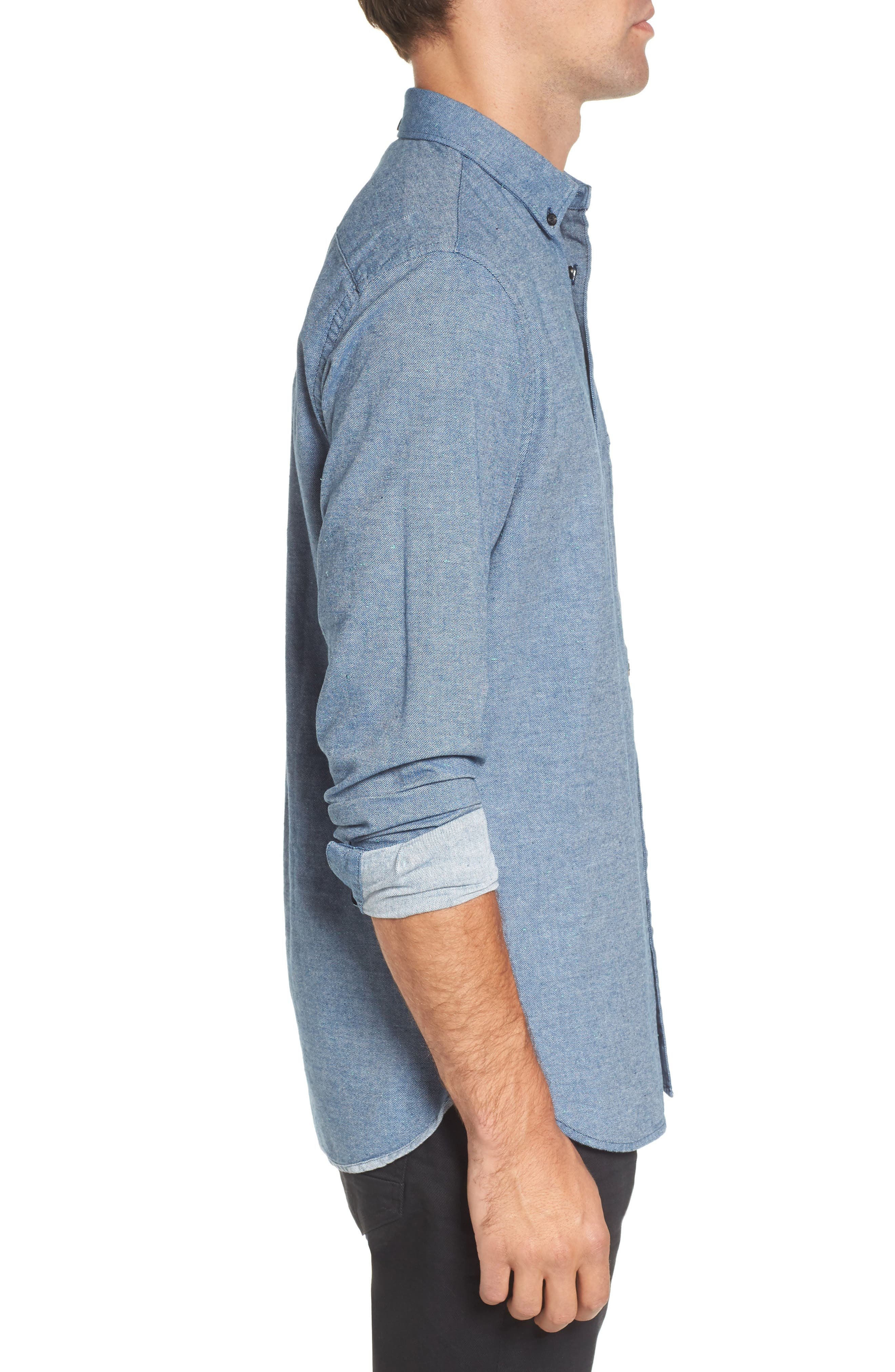 Chambray Shirt,                             Alternate thumbnail 6, color,