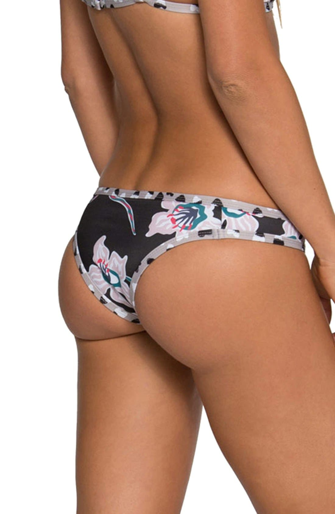 'Jayden' Minimal Coverage Bikini Bottoms,                             Alternate thumbnail 3, color,                             005