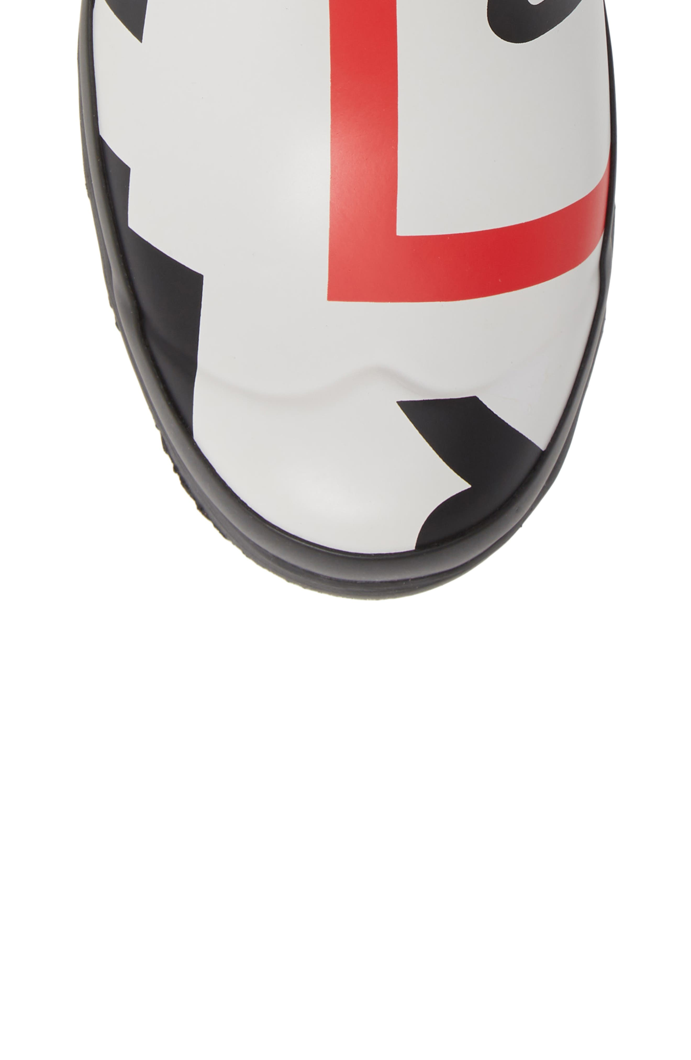 HUNTER,                             Original Exploded Logo Short Waterproof Rain Boot,                             Alternate thumbnail 5, color,                             001