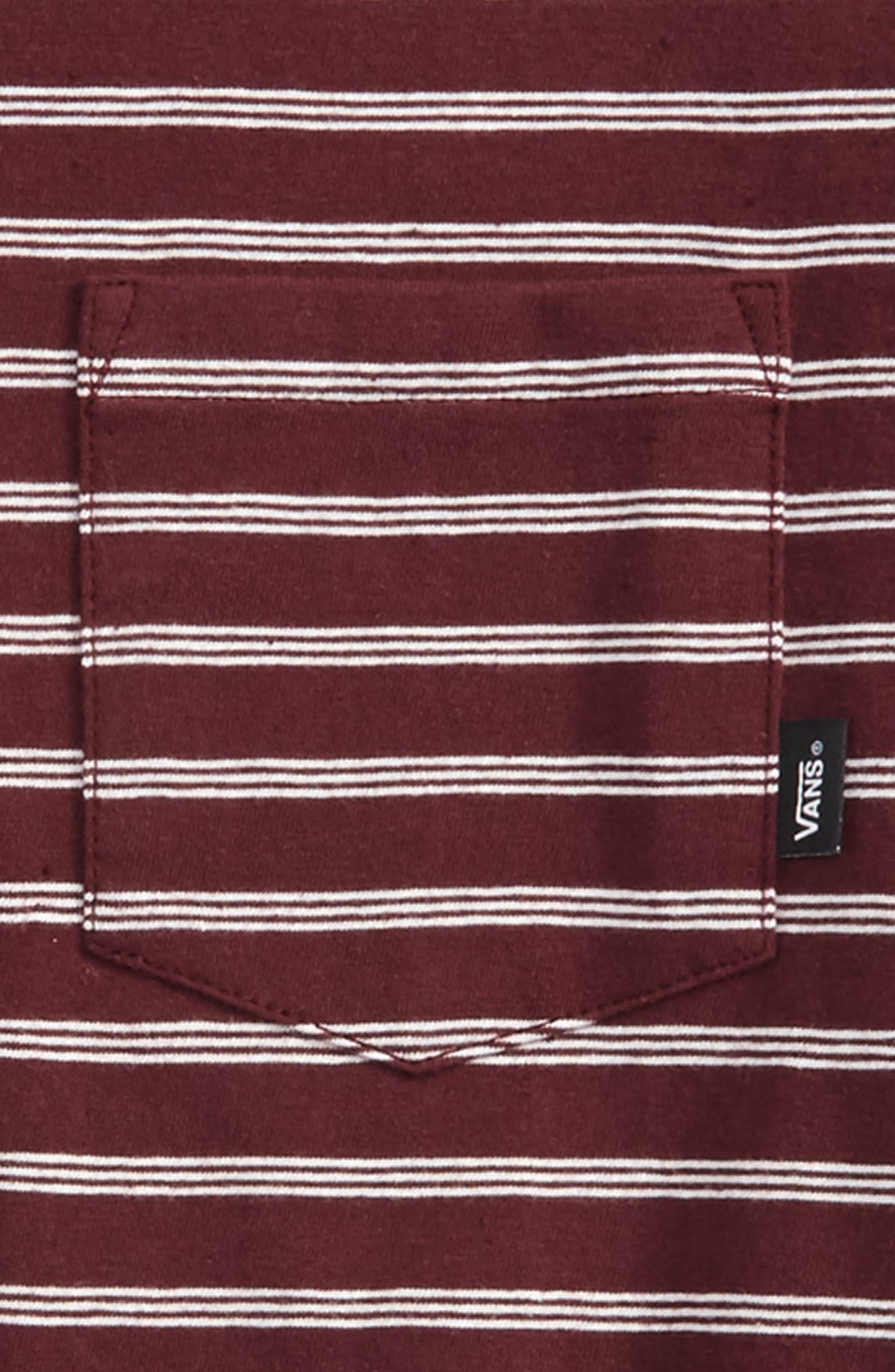 Lined Up Knit T-Shirt,                             Alternate thumbnail 4, color,
