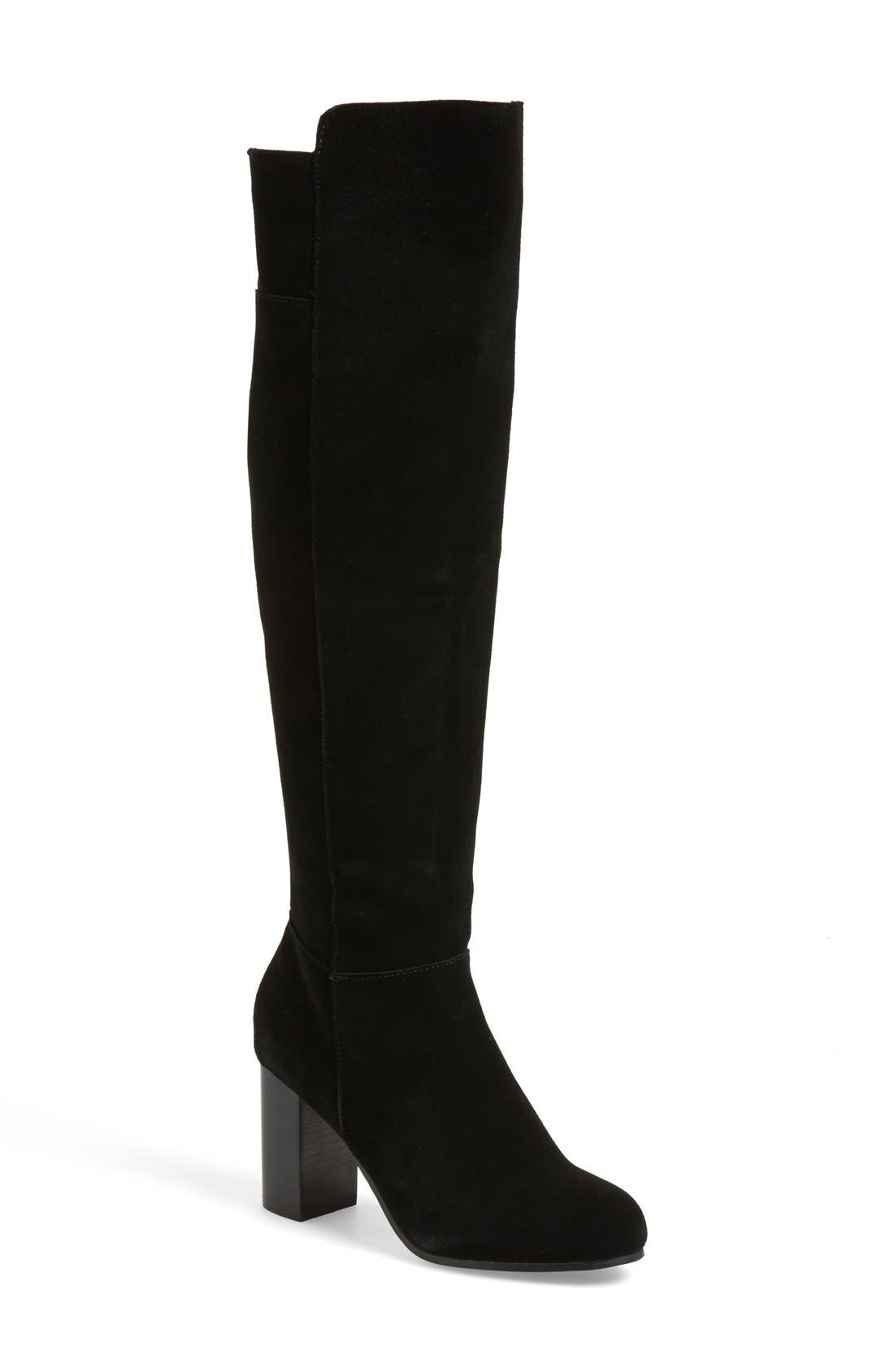 'Ginette' Over the Knee Boot,                             Main thumbnail 1, color,                             001