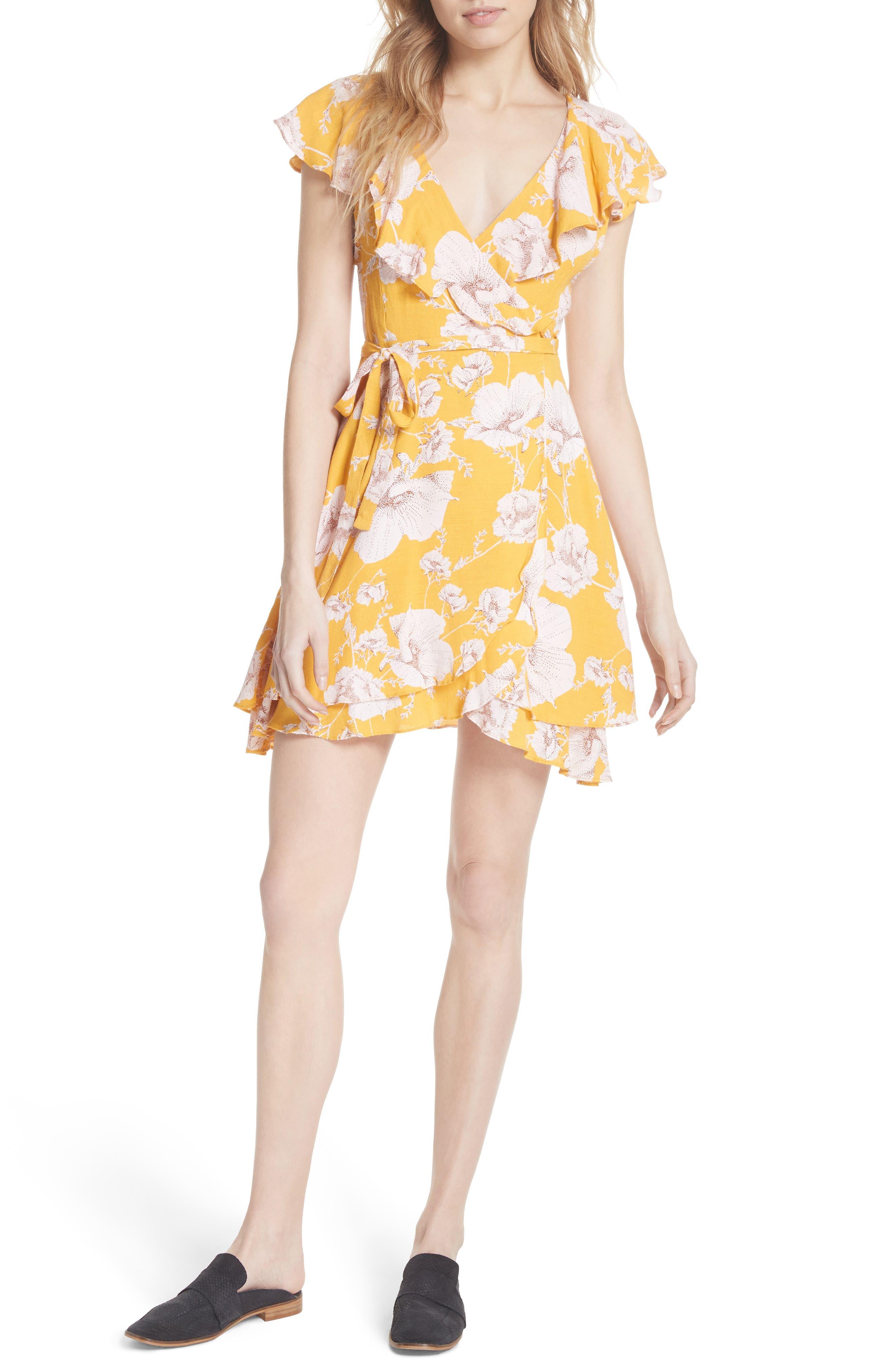 French Quarter Print Wrap Minidress,                             Main thumbnail 3, color,
