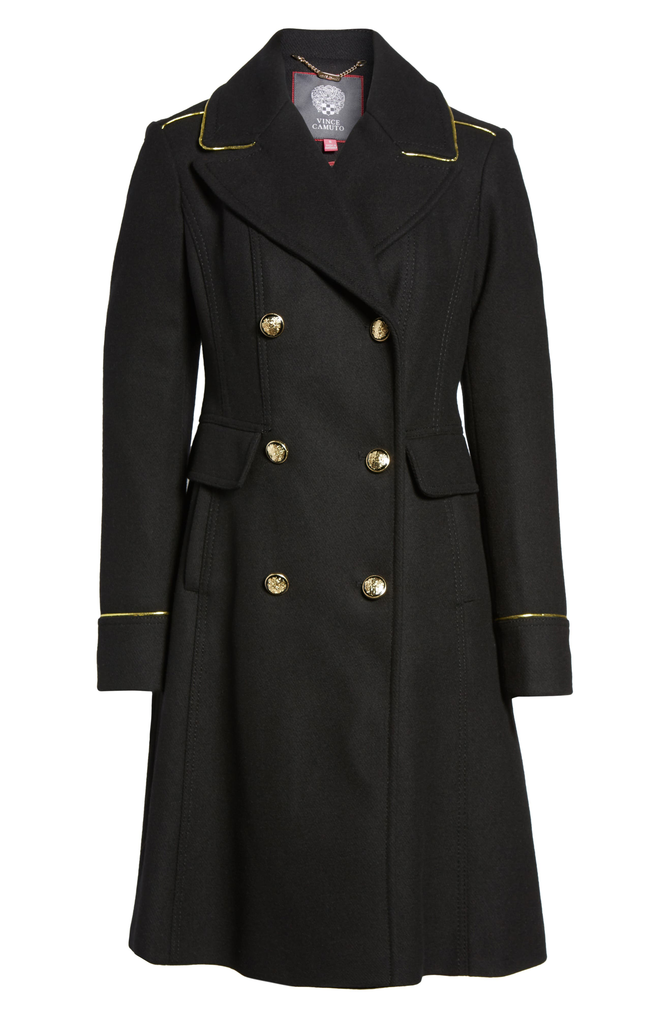 Double Breasted Utility Coat,                             Alternate thumbnail 5, color,                             001