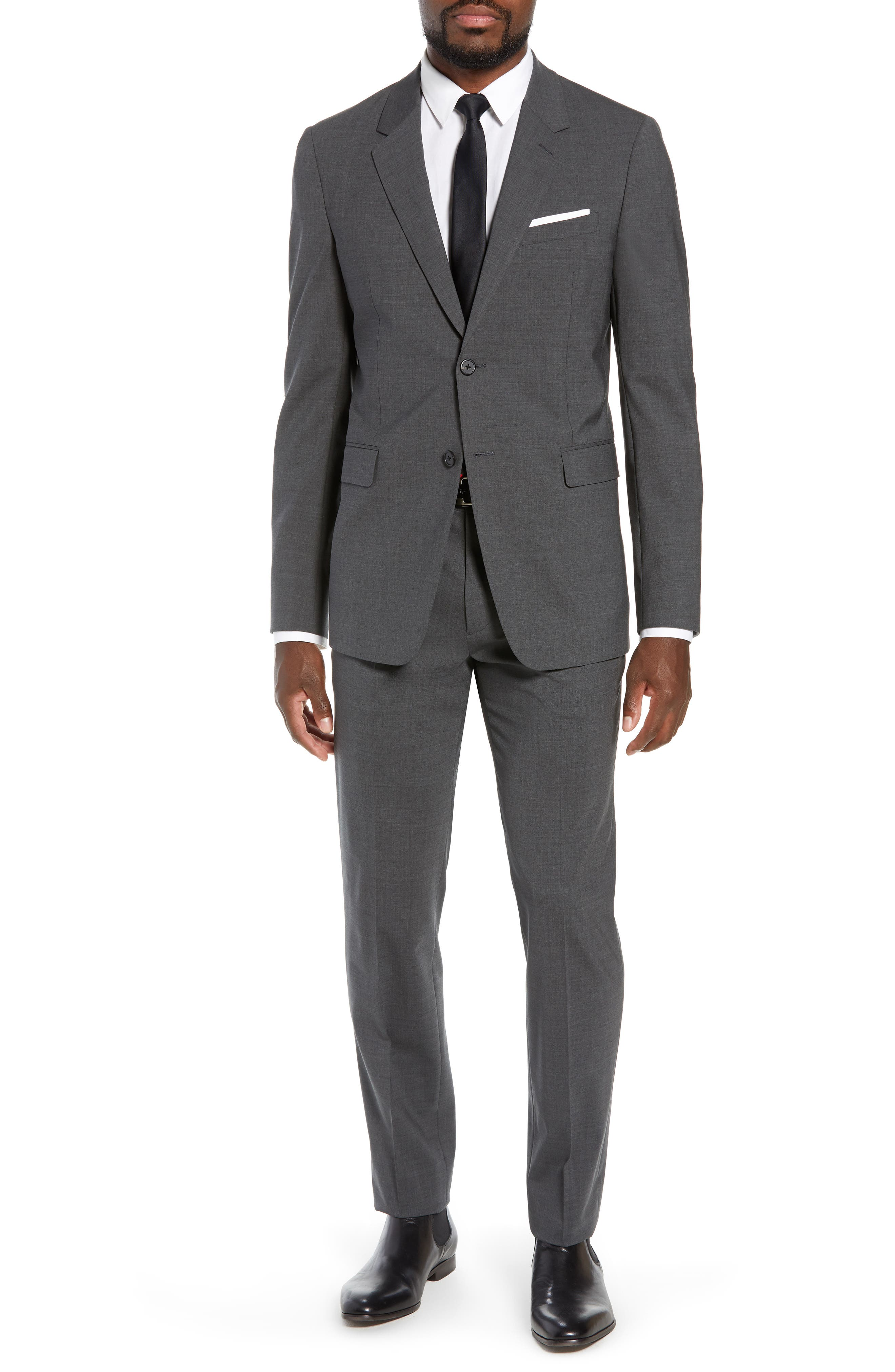 Mayer New Tailor 2 Wool Trousers,                             Alternate thumbnail 7, color,                             CHARCOAL