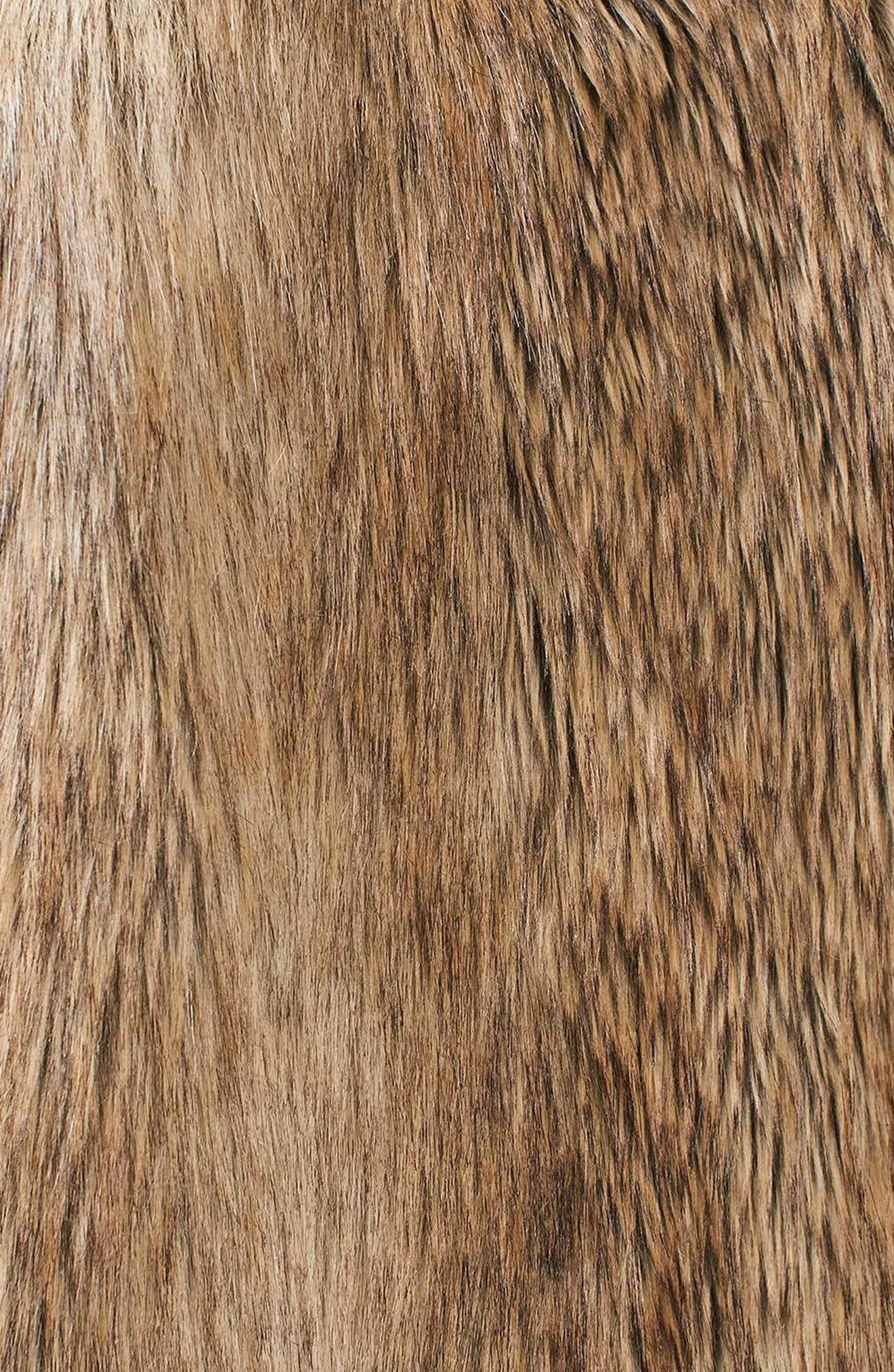 Ultimate Faux Fur Coat,                             Alternate thumbnail 6, color,                             BROWN
