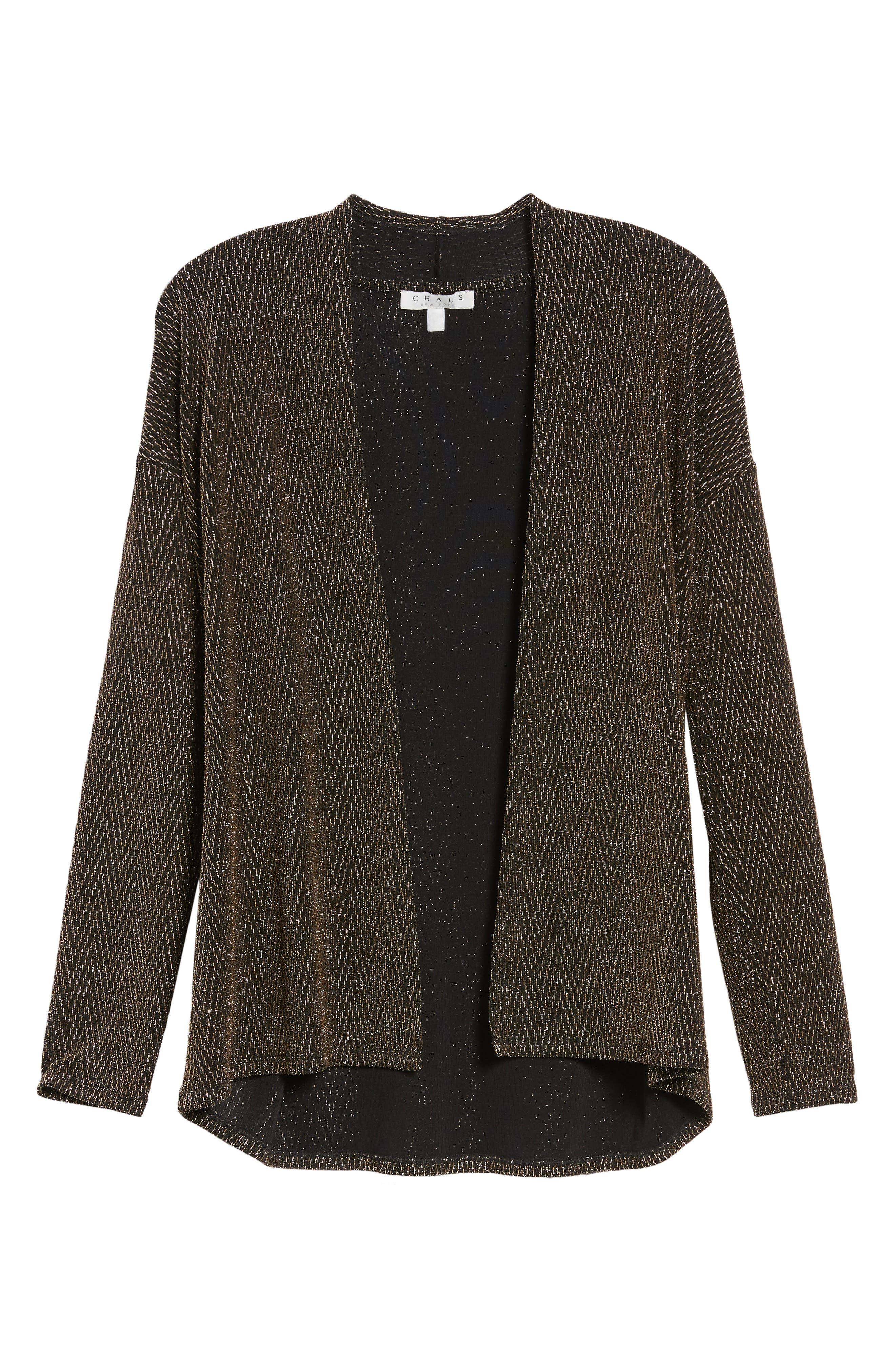 Metallic Dolman Sleeve Cardigan,                             Alternate thumbnail 6, color,