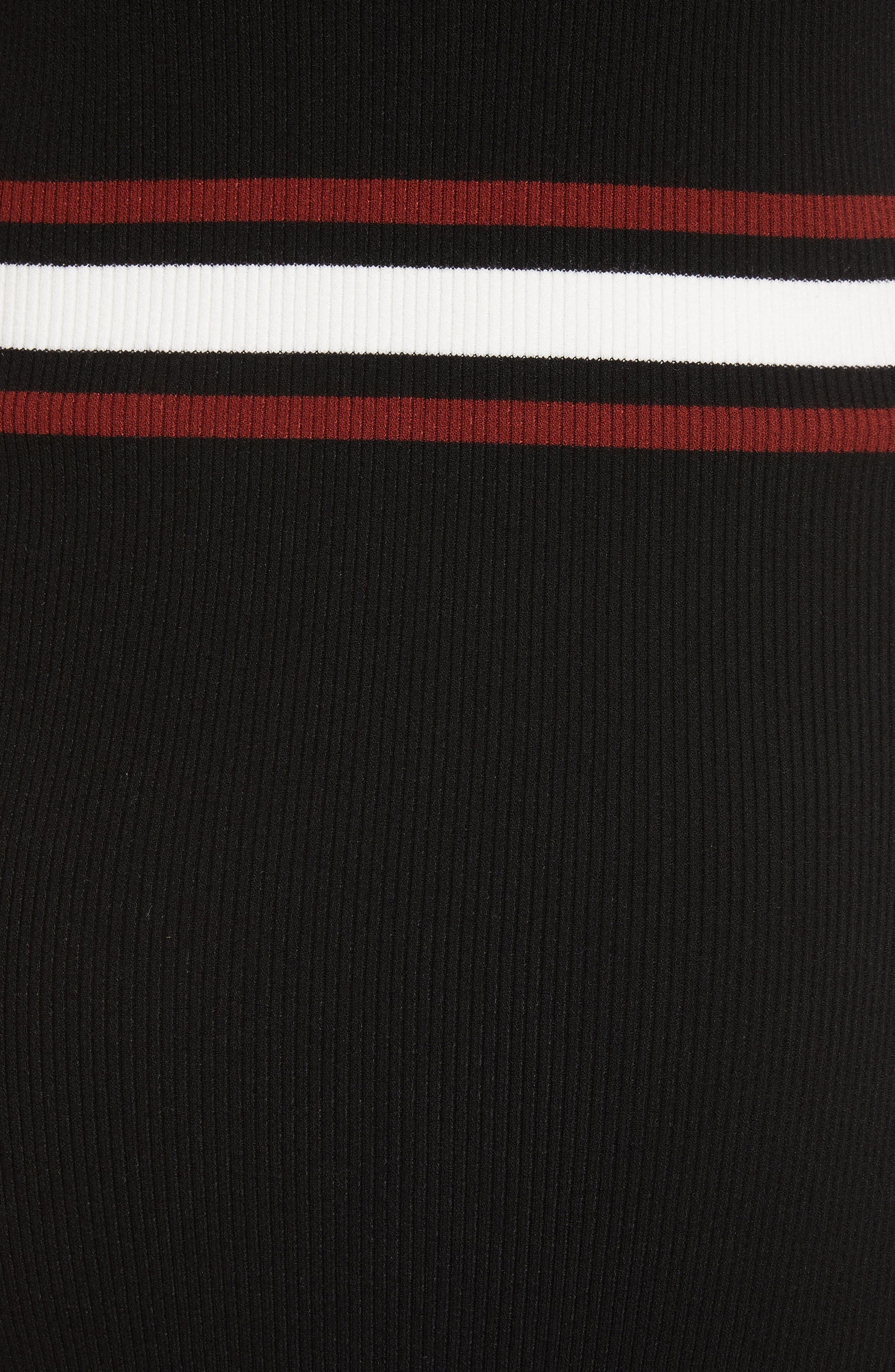 Anders Rib Knit Dress,                             Alternate thumbnail 5, color,                             002