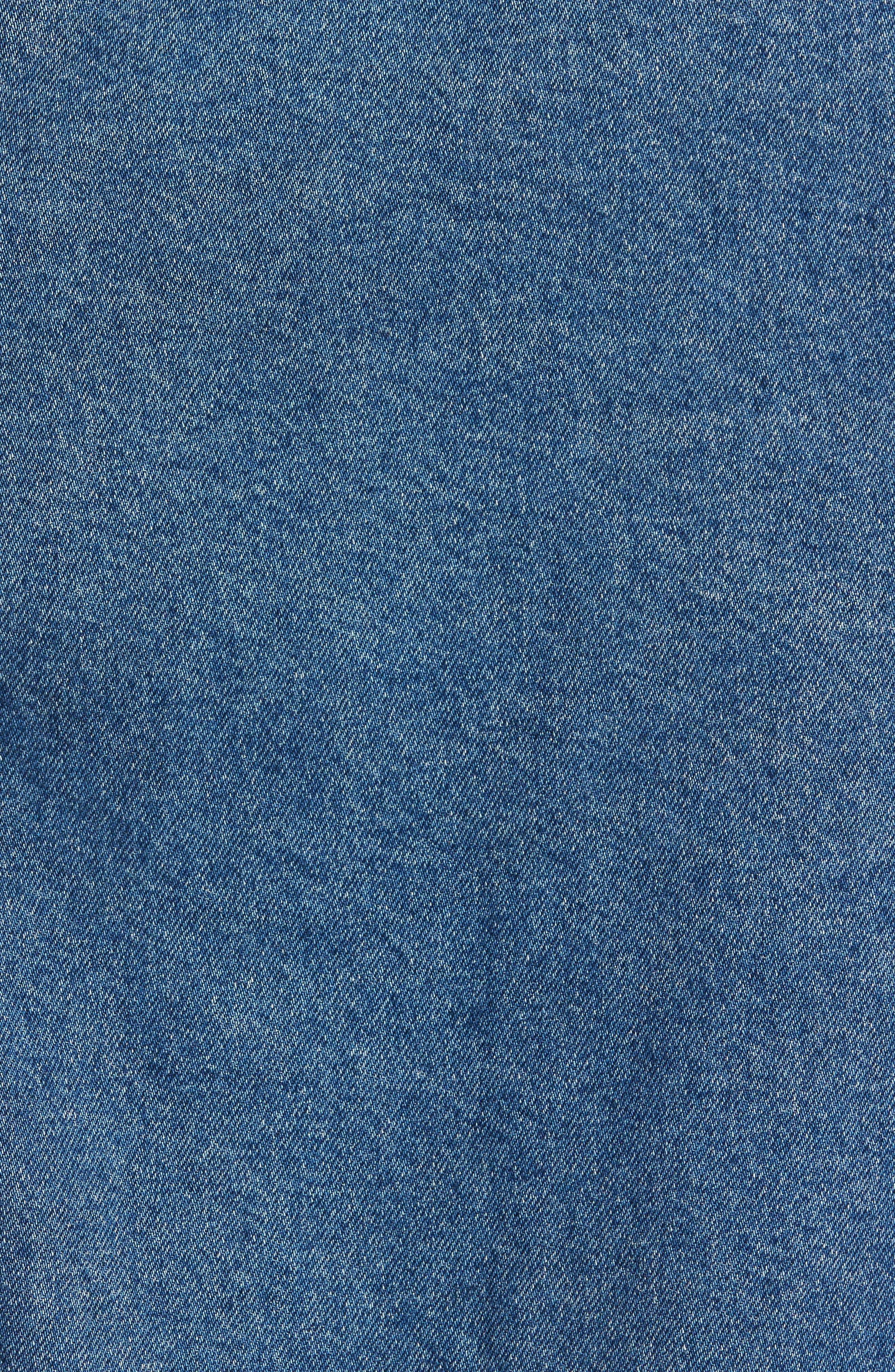 Mid Wash Denim Jacket,                             Alternate thumbnail 7, color,                             420
