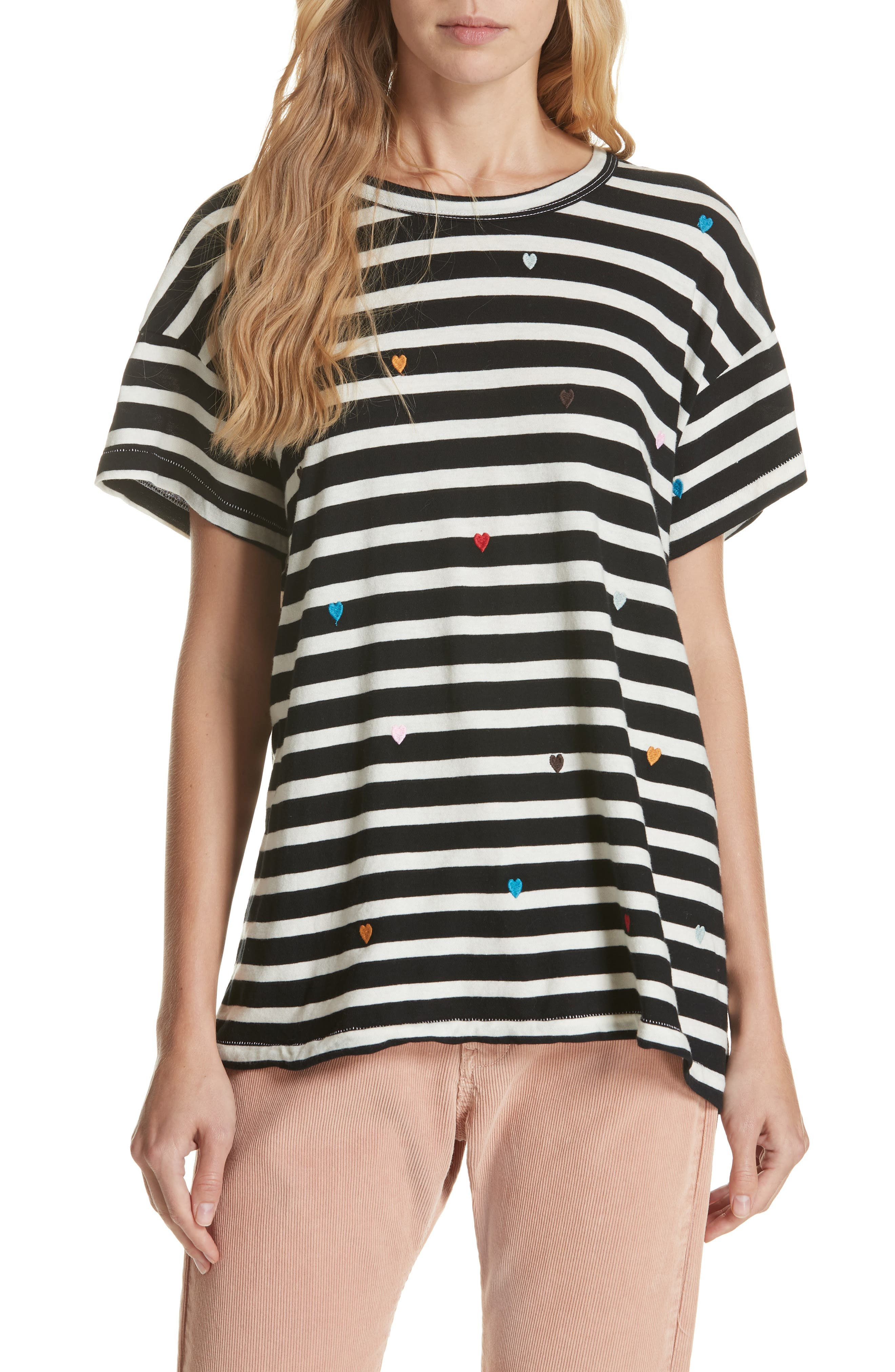 The Boxy Crew Embroidered Dot Tee,                         Main,                         color, 004