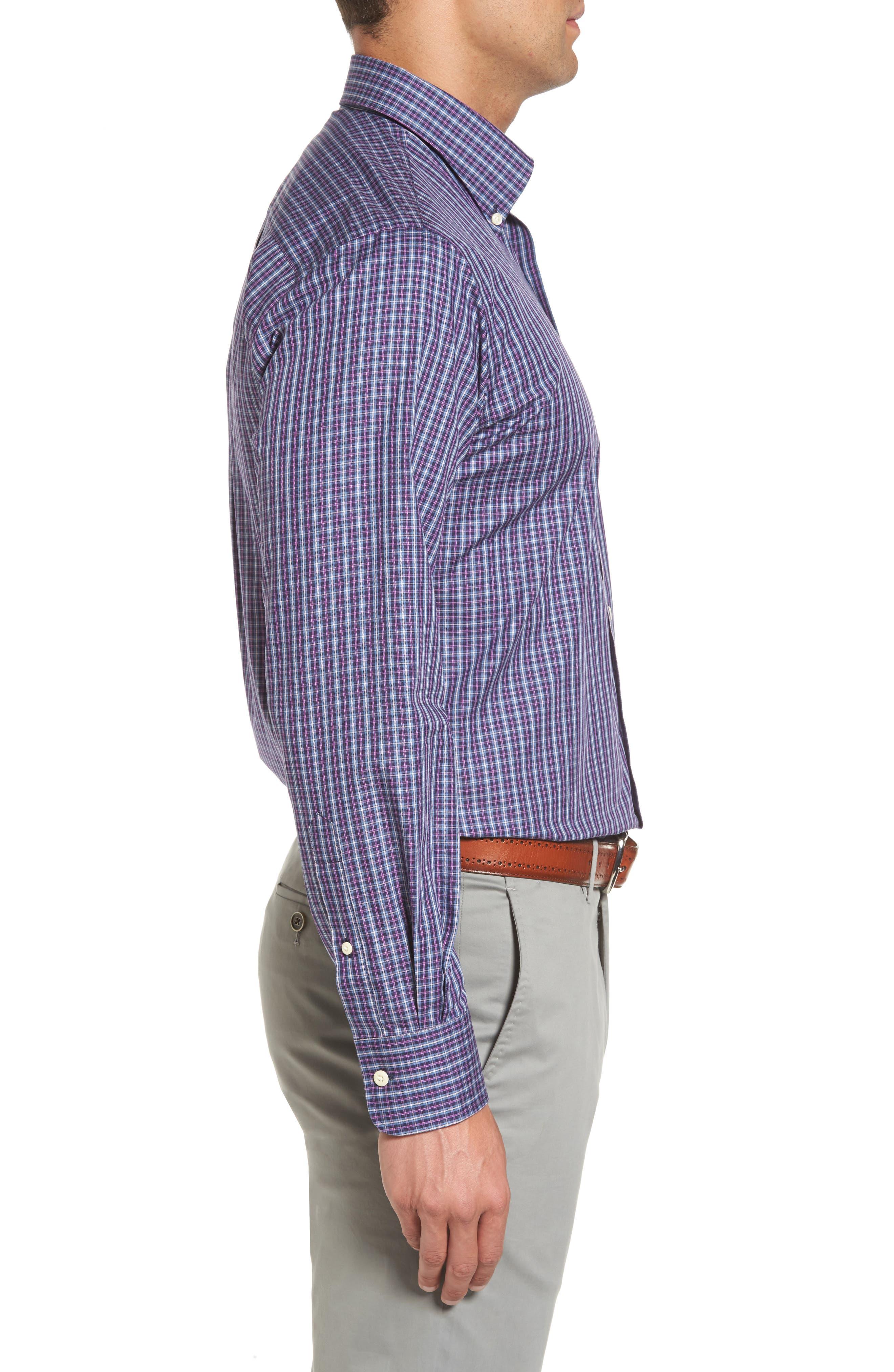 Hillock Regular Fit Plaid Sport Shirt,                             Alternate thumbnail 3, color,