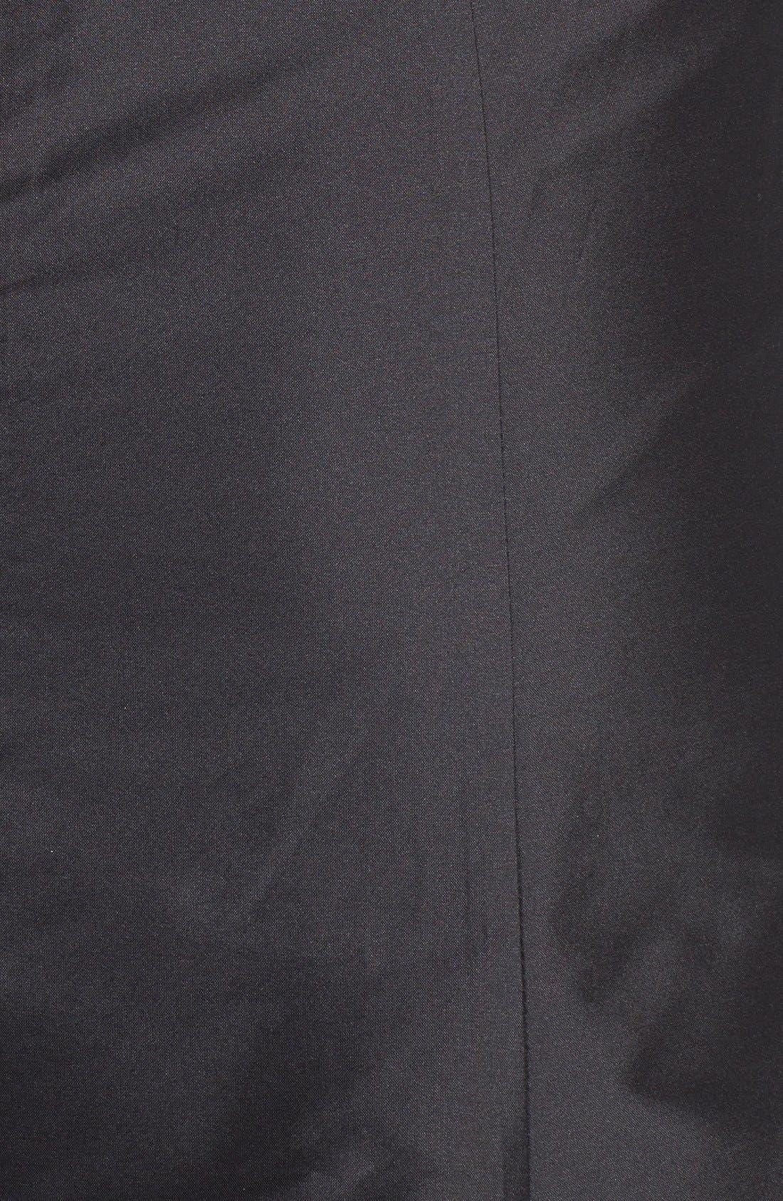 Floor Length Taffeta Mermaid Skirt,                             Alternate thumbnail 4, color,                             001