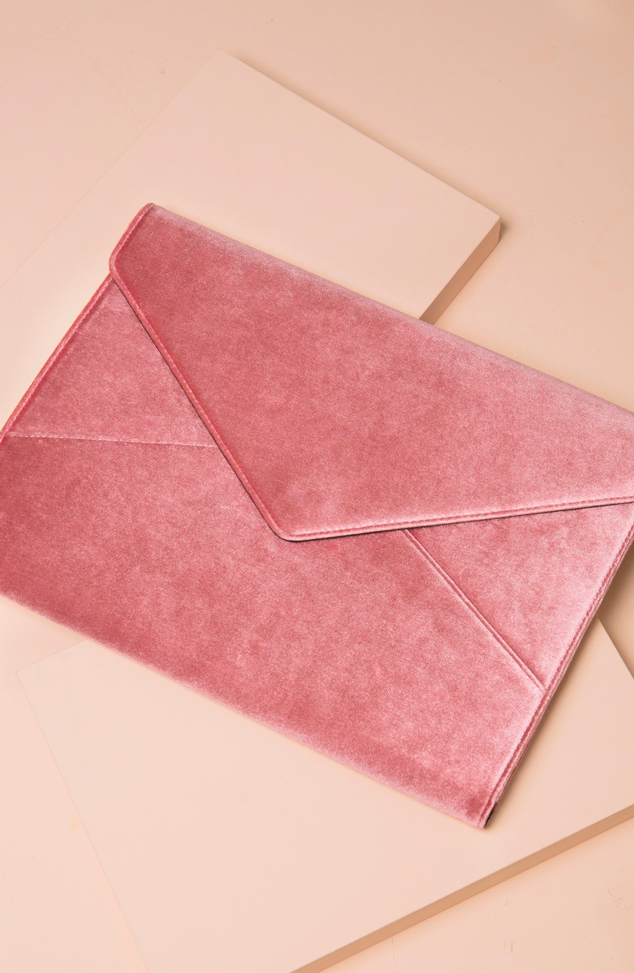 Rose Velvet Laptop Clutch,                             Alternate thumbnail 5, color,                             650
