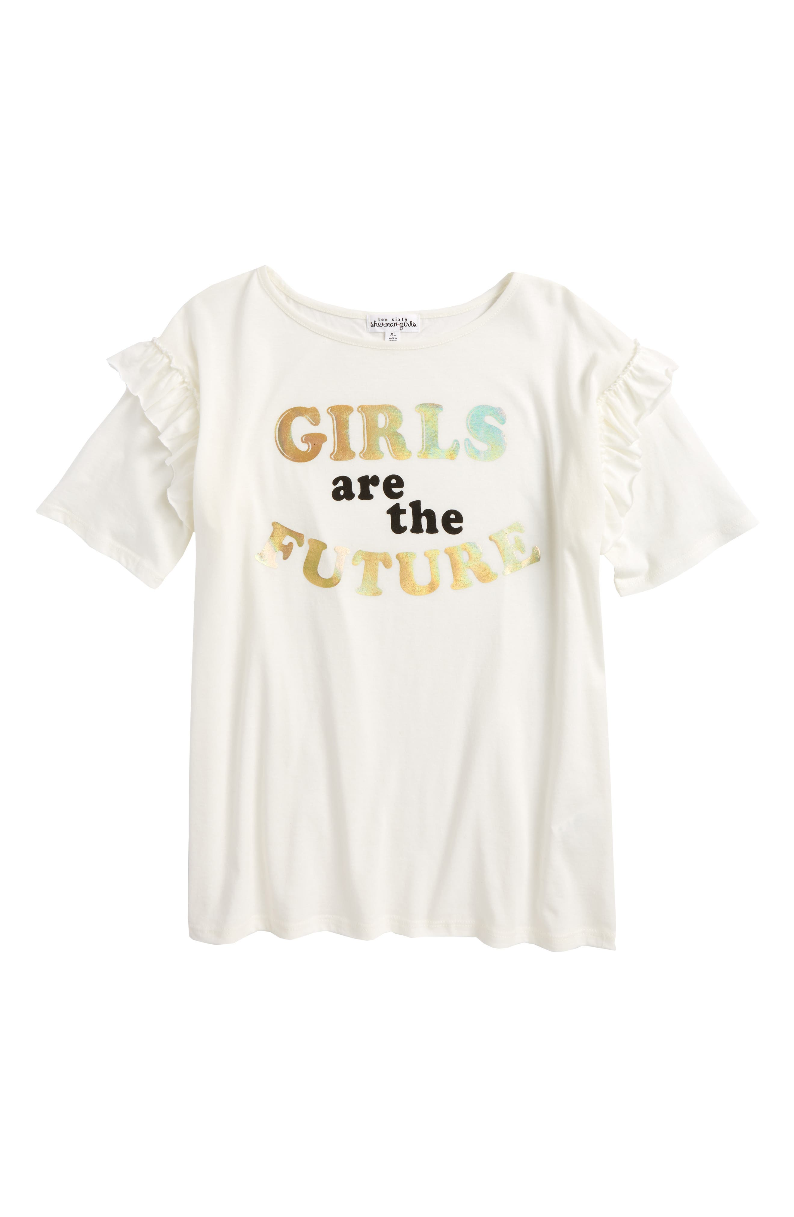 Girls Are The Future Tee,                             Main thumbnail 1, color,                             900