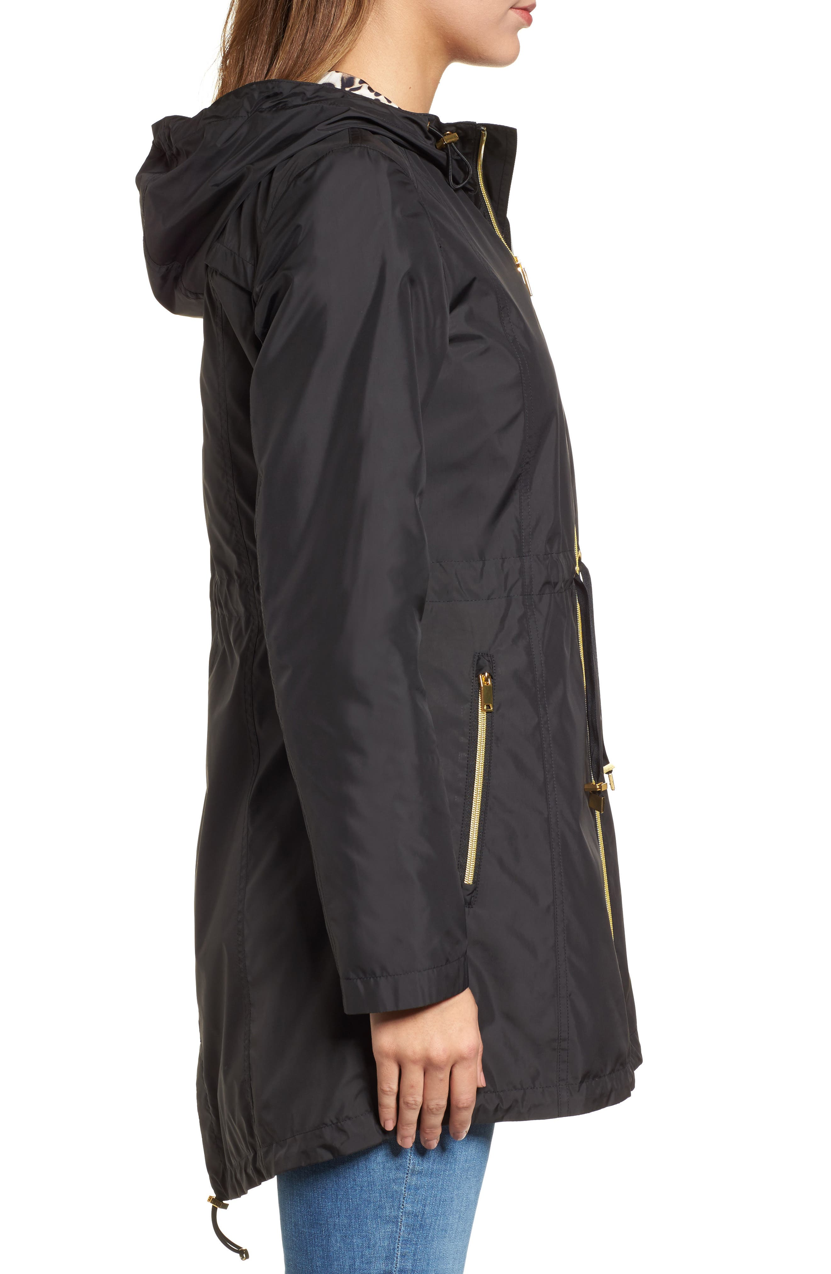 Packable Hooded Anorak,                             Alternate thumbnail 3, color,                             001