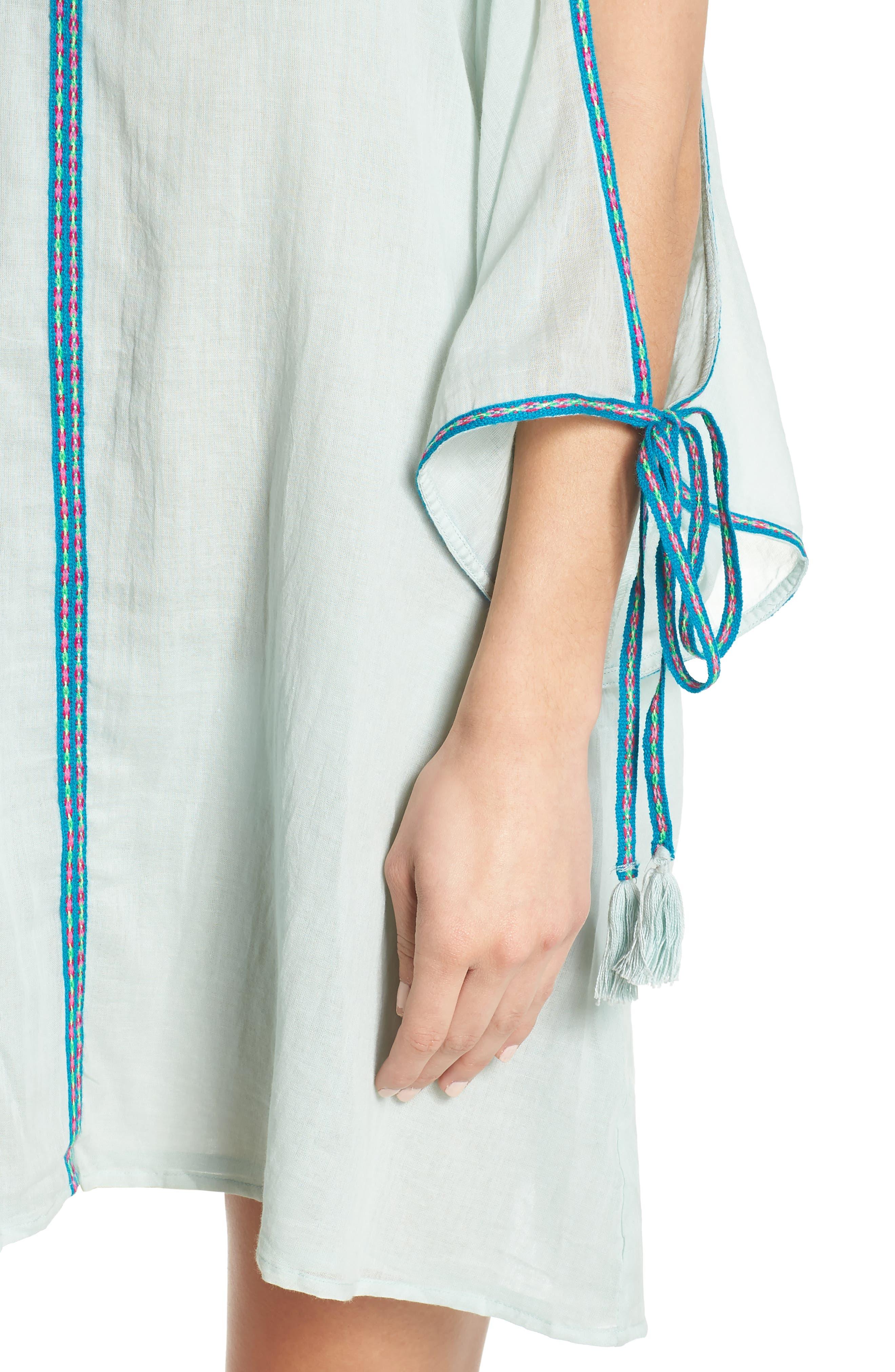 Mini Ottoman Cover-Up Dress,                             Alternate thumbnail 4, color,                             451