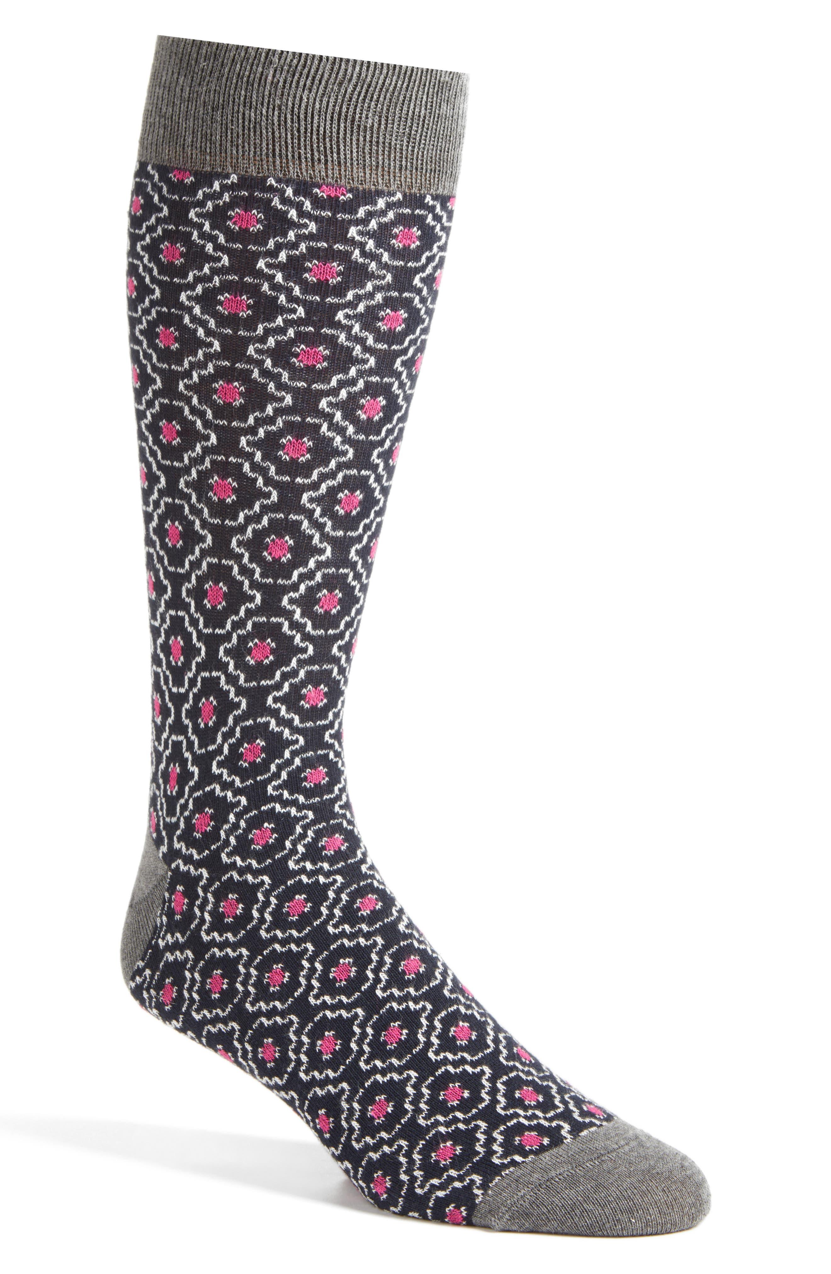 Norzec Geometric Sock,                             Main thumbnail 2, color,