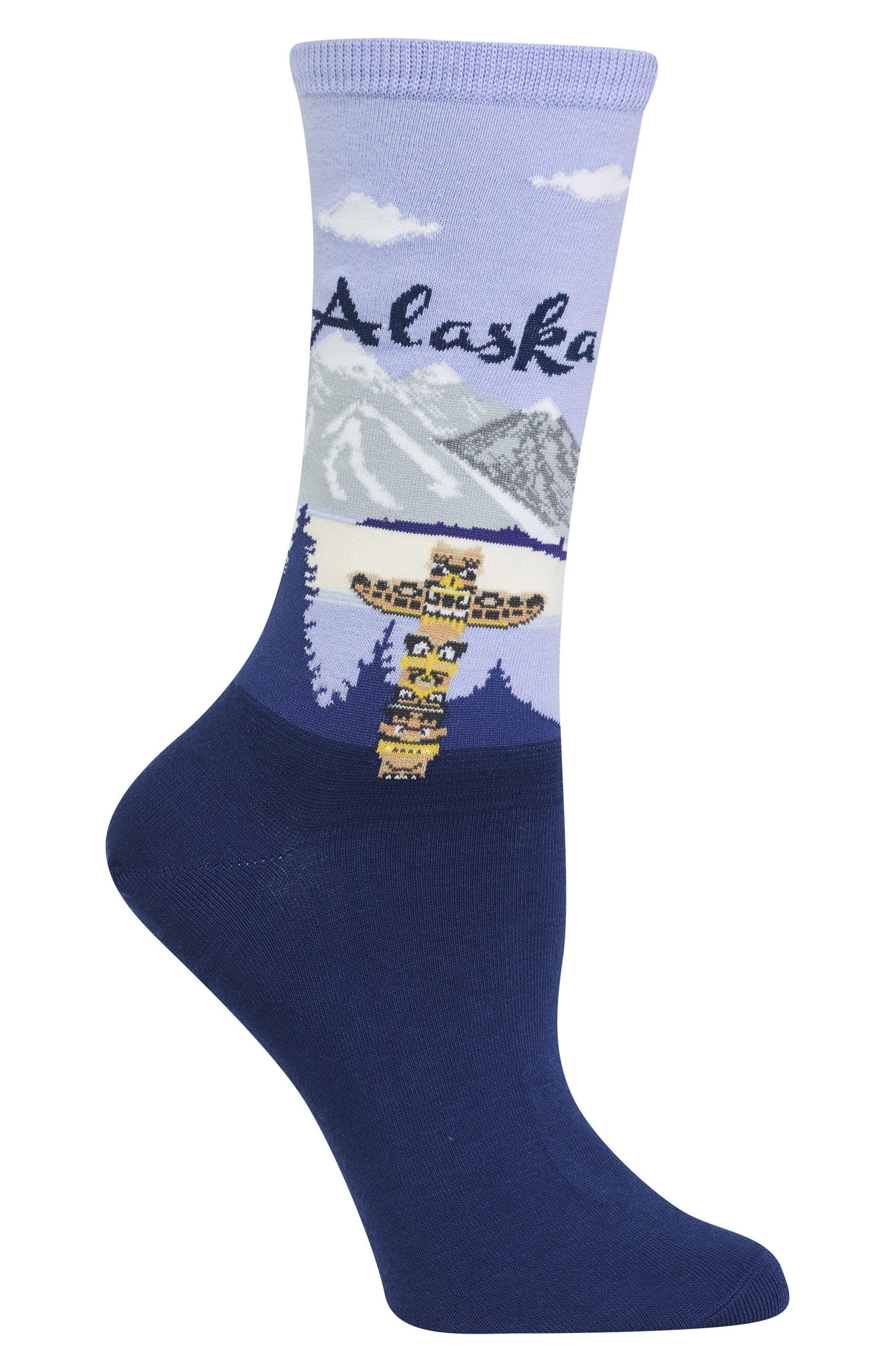 Travel Series - Alaska Crew Socks,                             Alternate thumbnail 2, color,                             439
