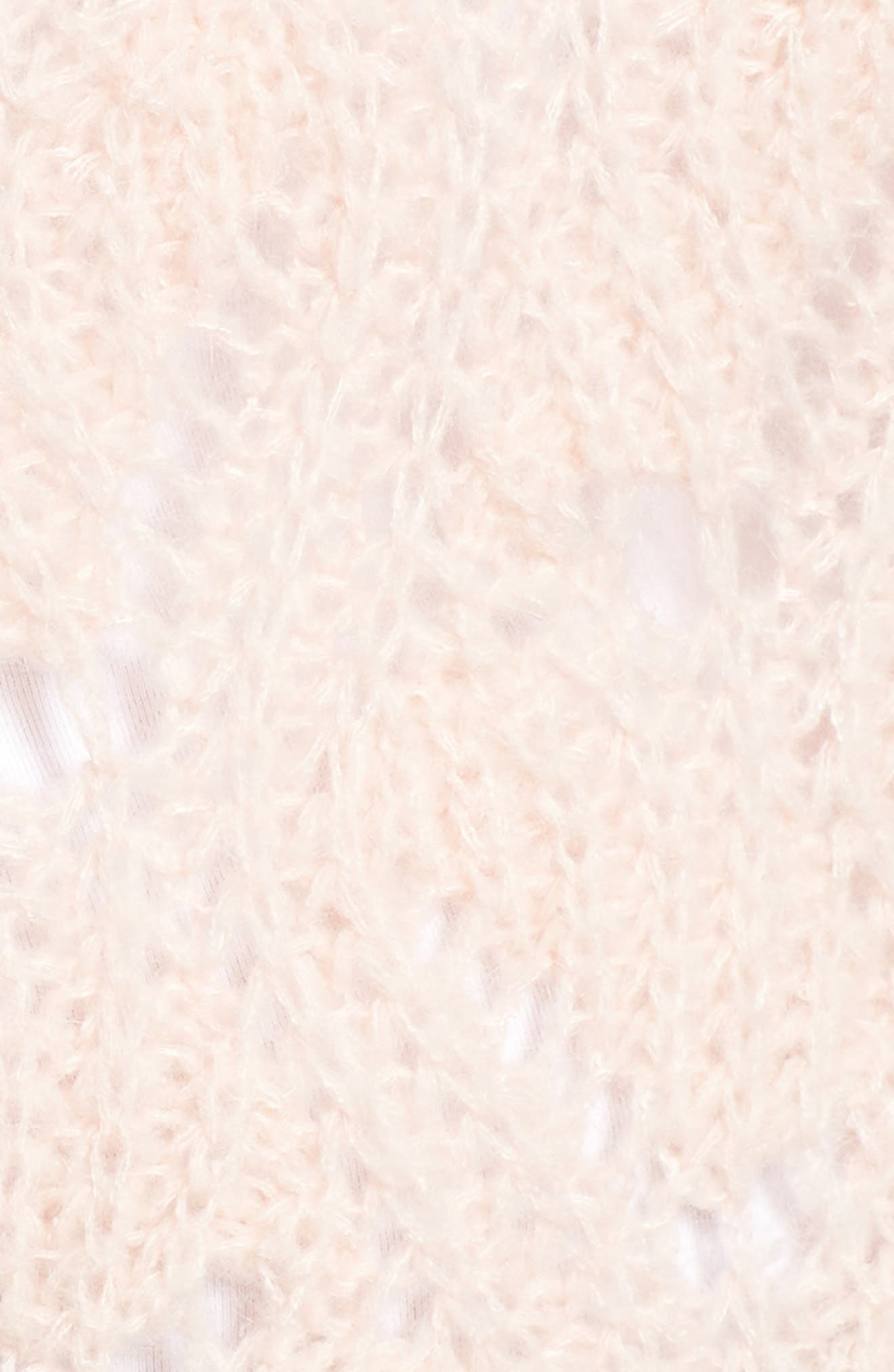 Pointelle Sweater,                             Alternate thumbnail 5, color,                             PINK SMOKE